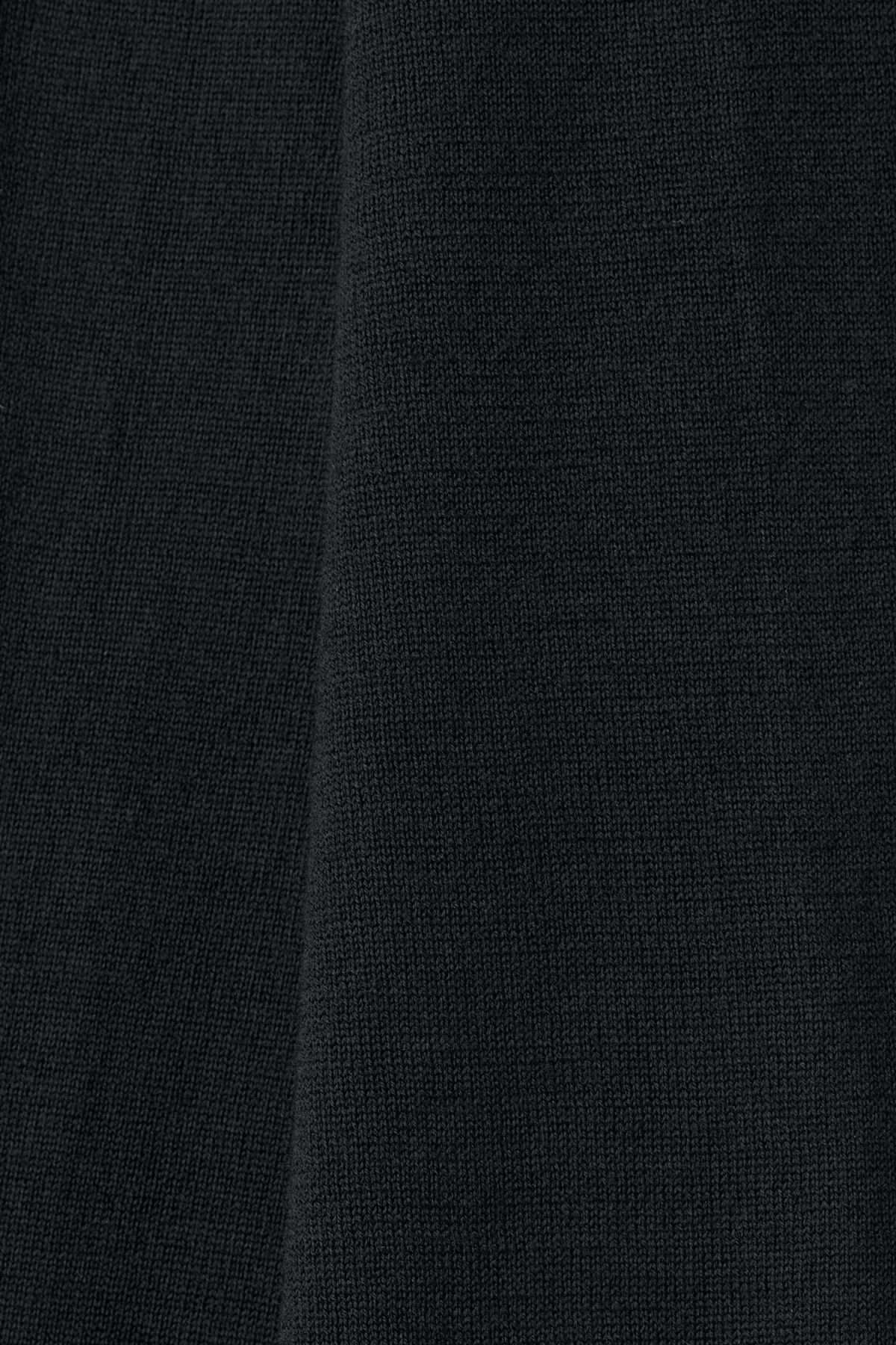 Detailed image of Weekday august merino sweater in black
