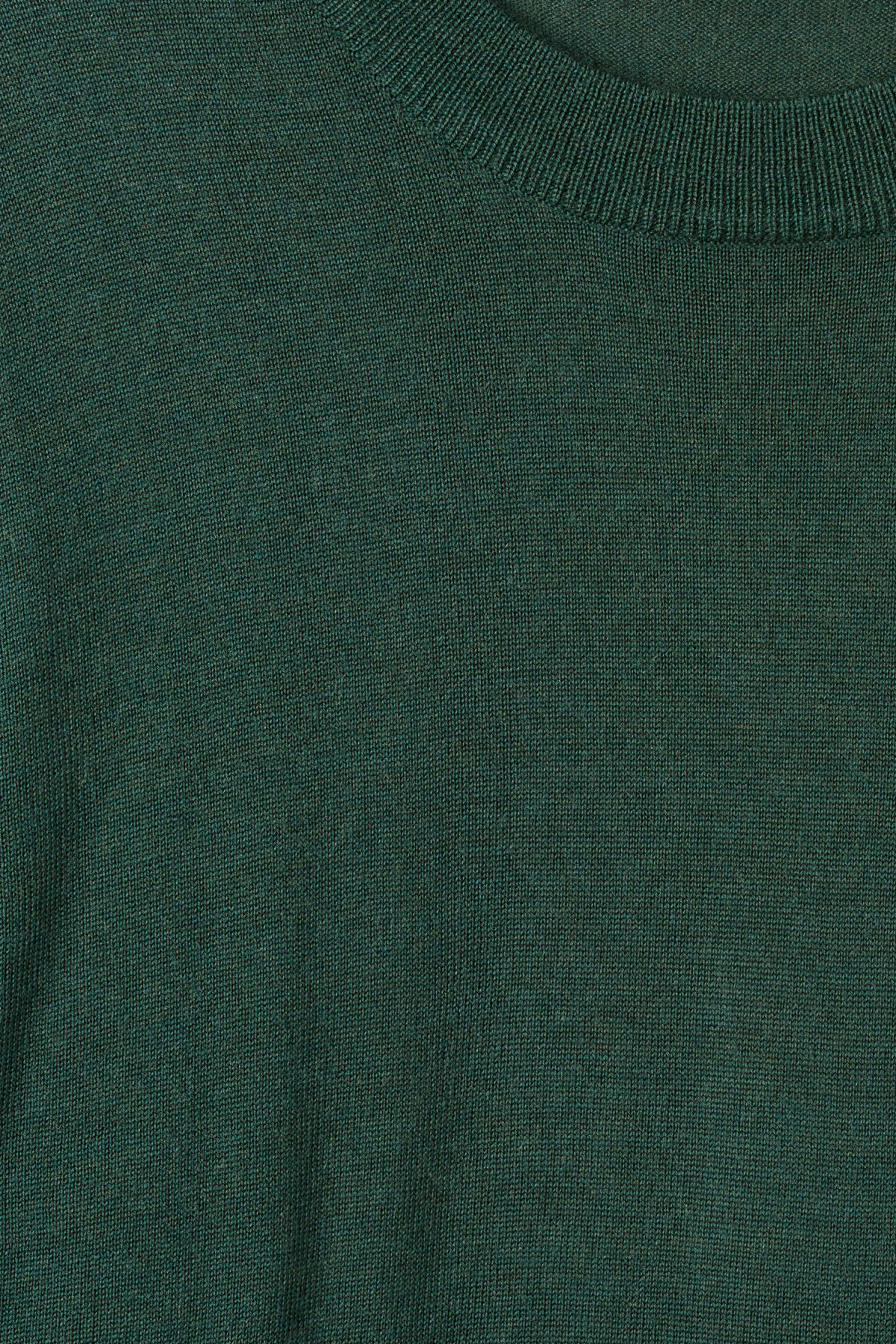 Detailed image of Weekday august merino sweater in turquoise
