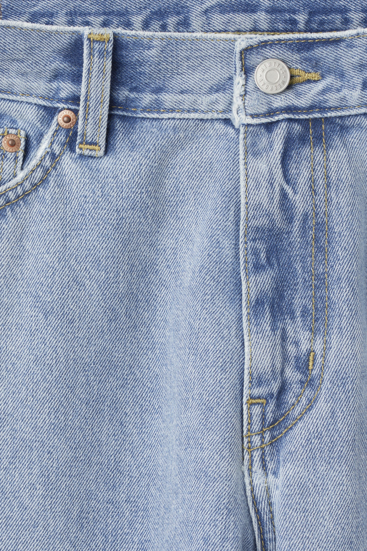 Detailed image of Weekday sharp lagoon blue jeans in blue
