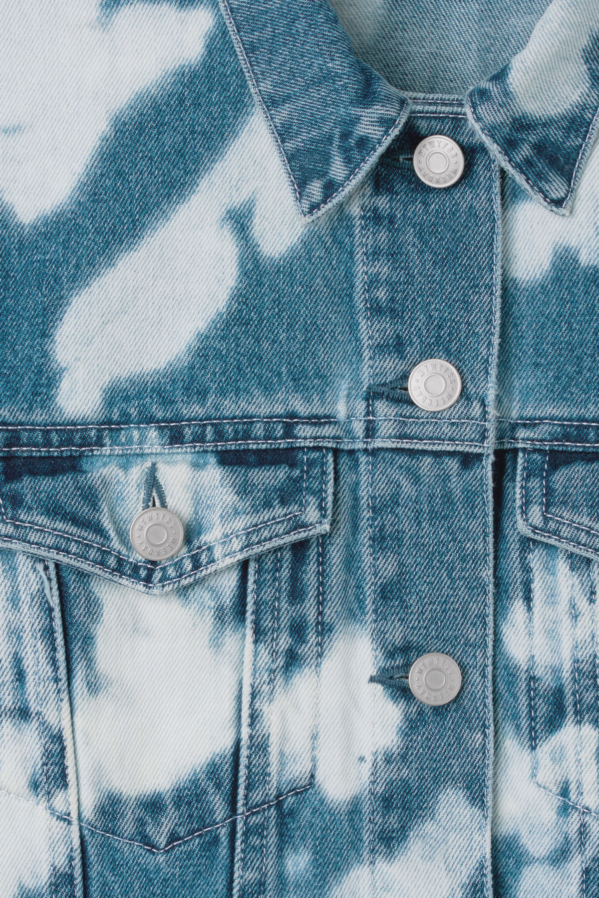 Detailed image of Weekday sky bleached jacket in blue