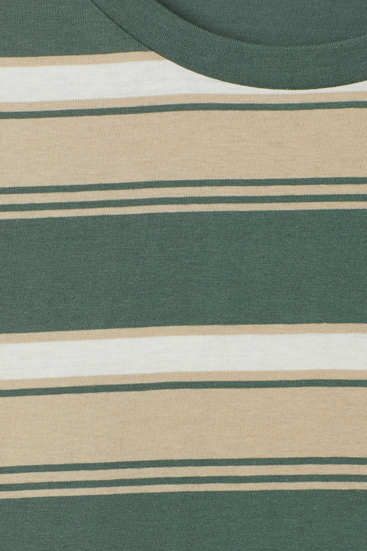 Detailed image of Weekday home stripe t-shirt in green
