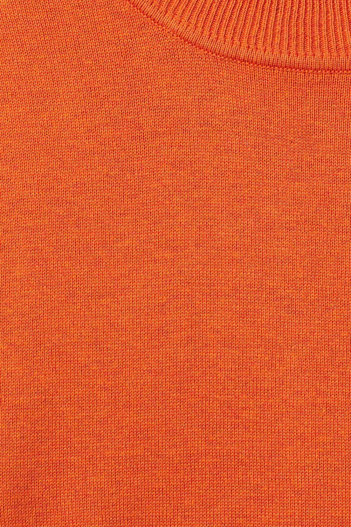 Detailed image of Weekday earl cotton sweater in orange