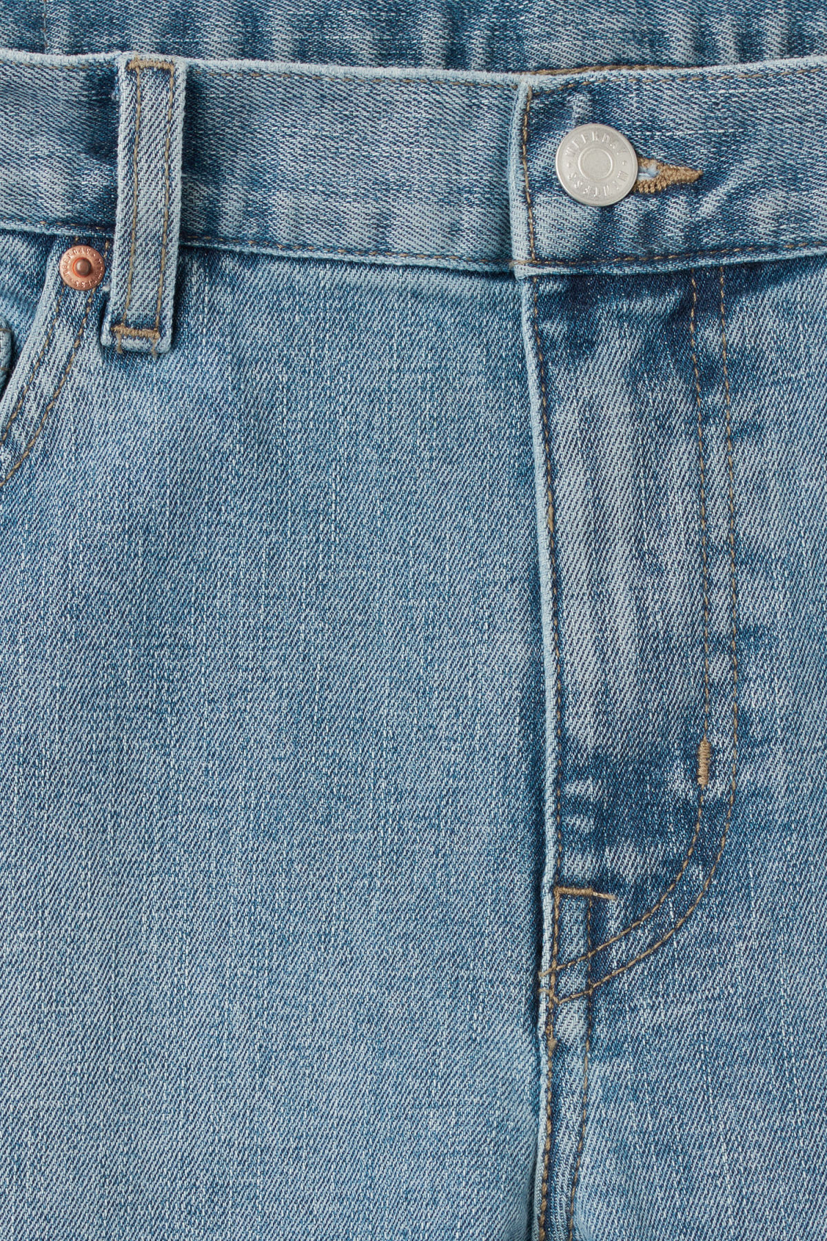 Detailed image of Weekday form washed blue jeans in blue