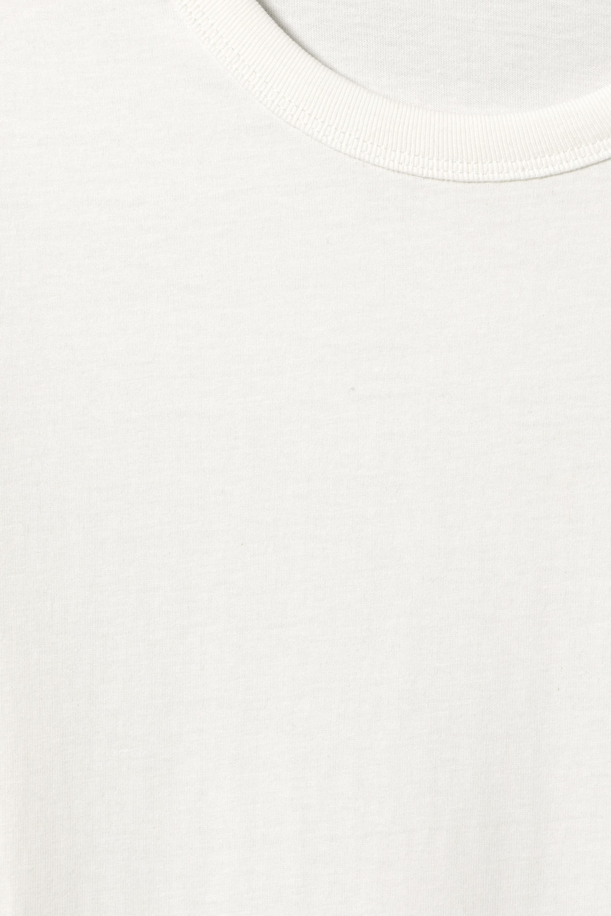 Detailed image of Weekday kate t-shirt in white