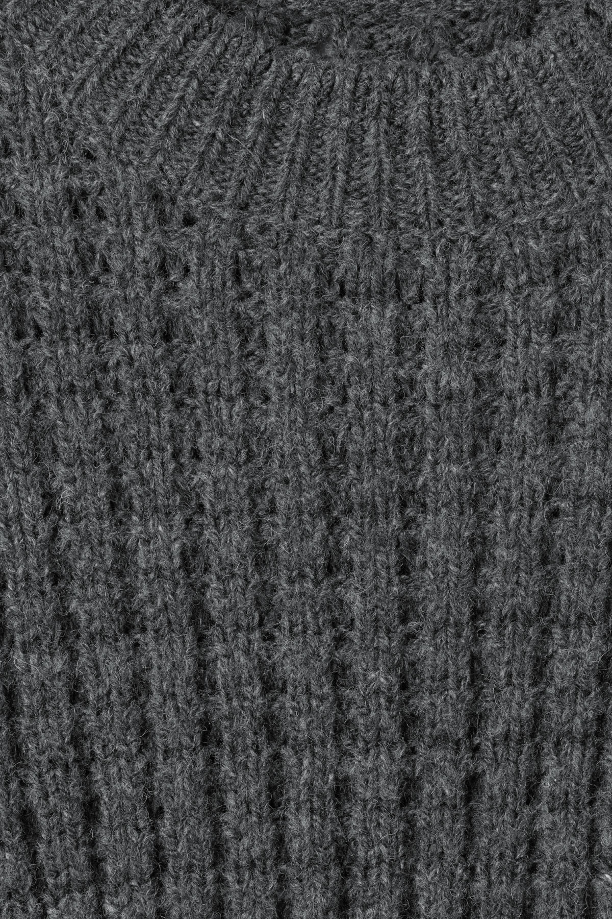 Detailed image of Weekday pine sweater in grey