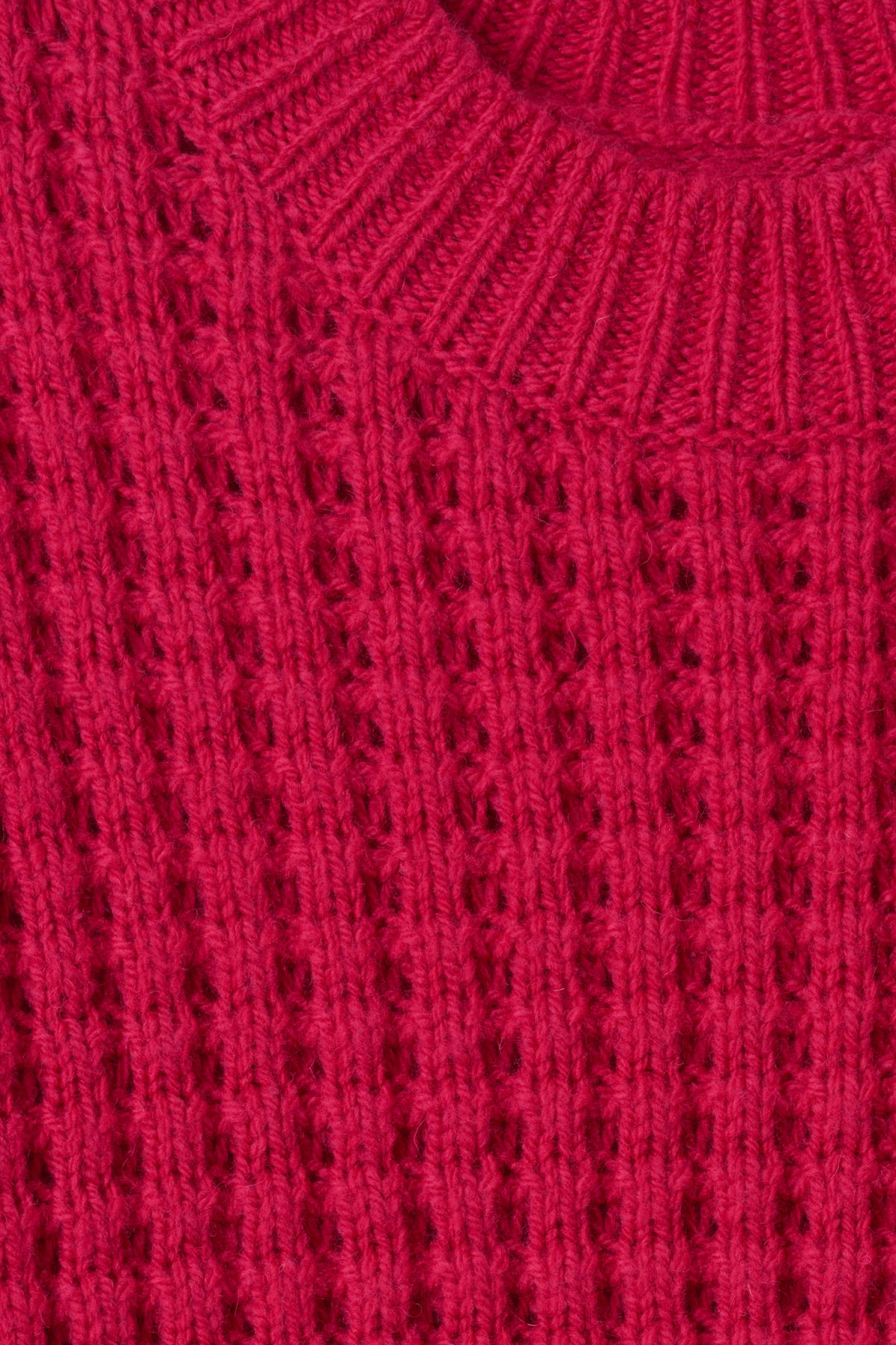 Detailed image of Weekday pine sweater in pink
