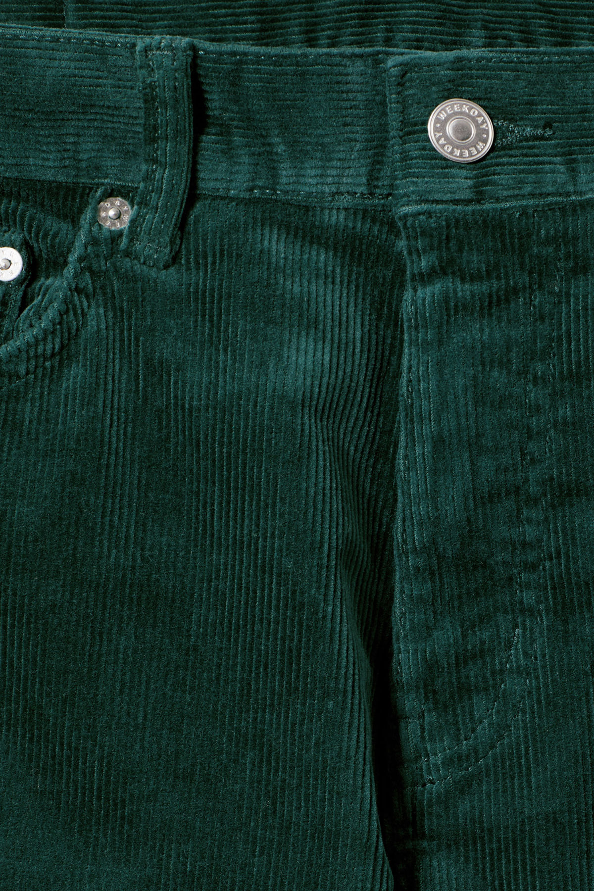 Detailed image of Weekday friday corduroy in green