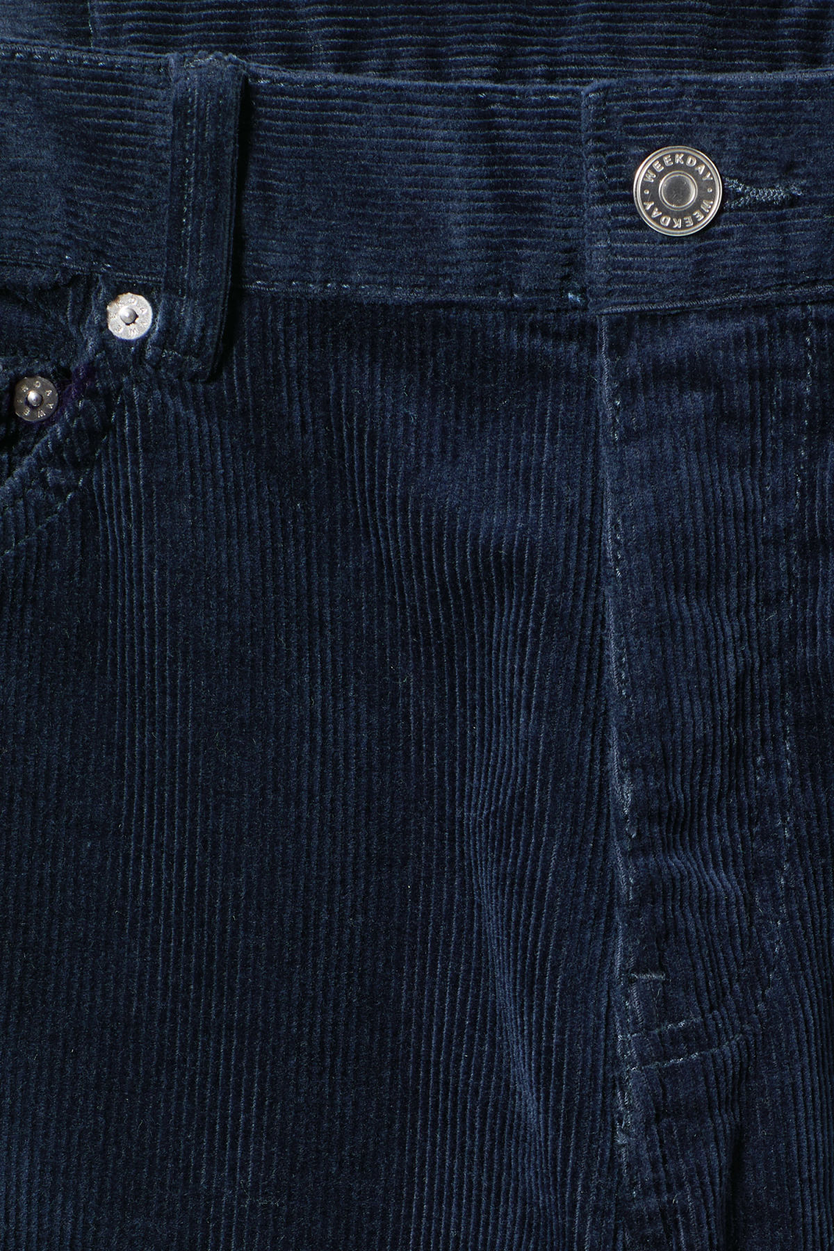 Detailed image of Weekday friday corduroy in blue