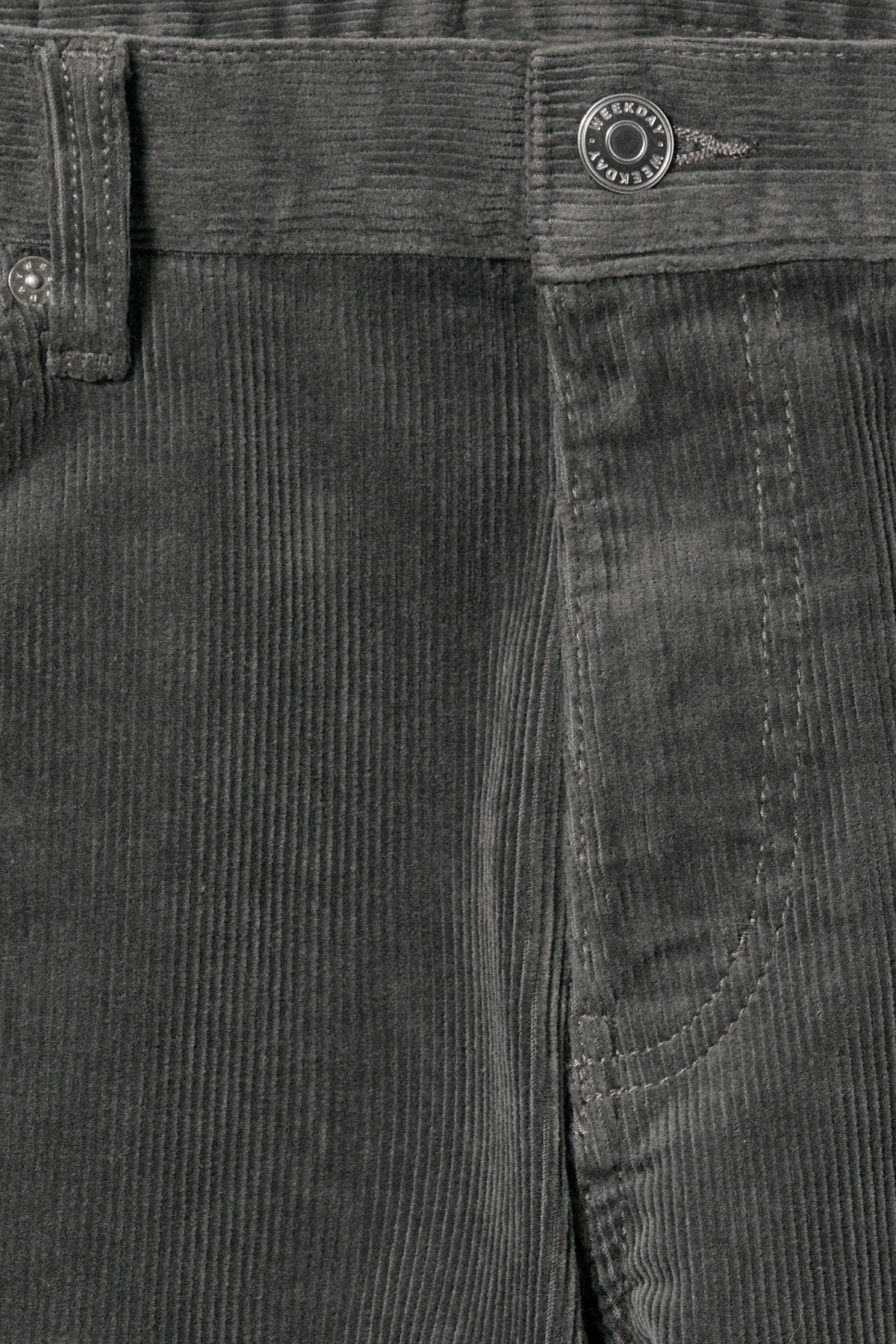 Detailed image of Weekday friday corduroy in grey