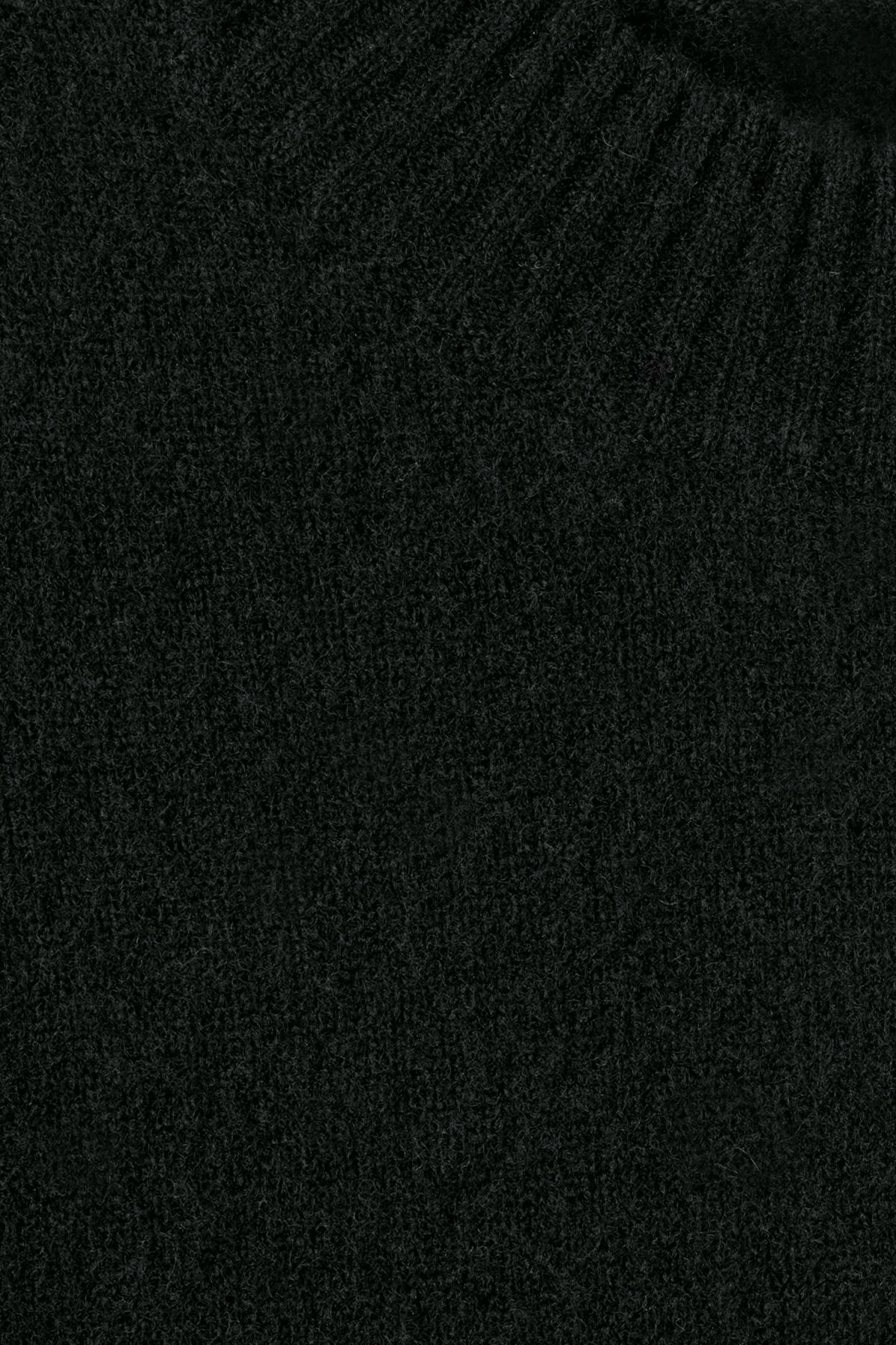 Detailed image of Weekday grint wool sweater in black