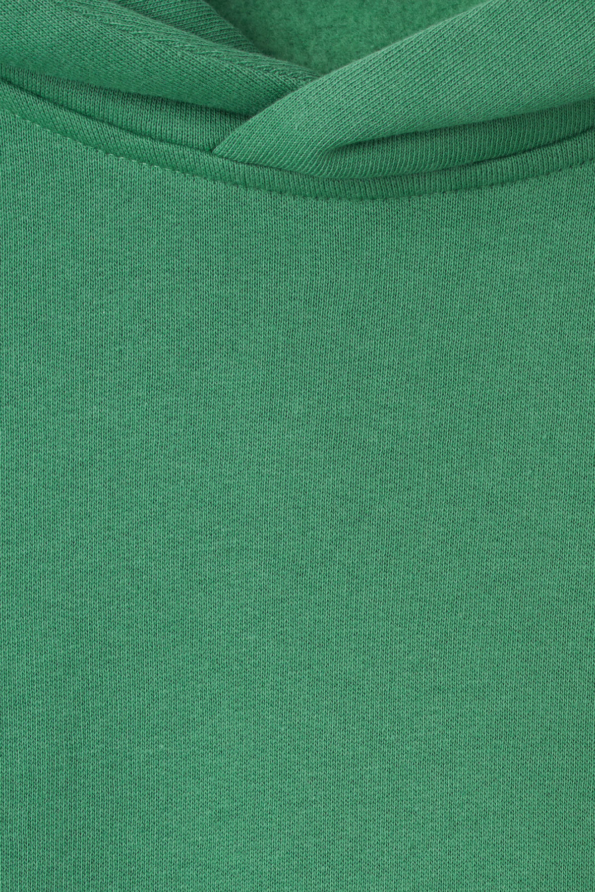 Detailed image of Weekday page hooded sweatshirt in green