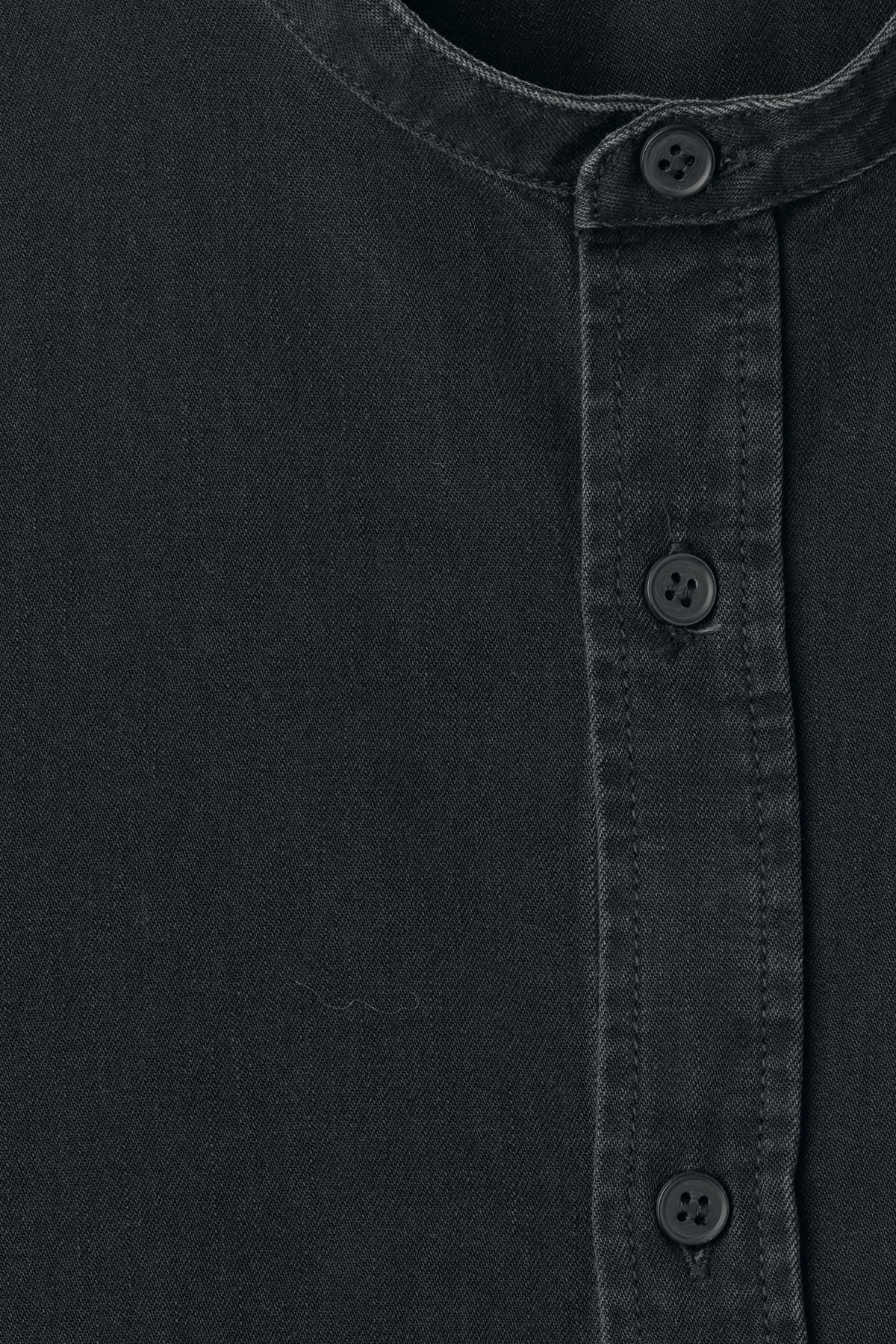 Detailed image of Weekday less shirt washed black in black