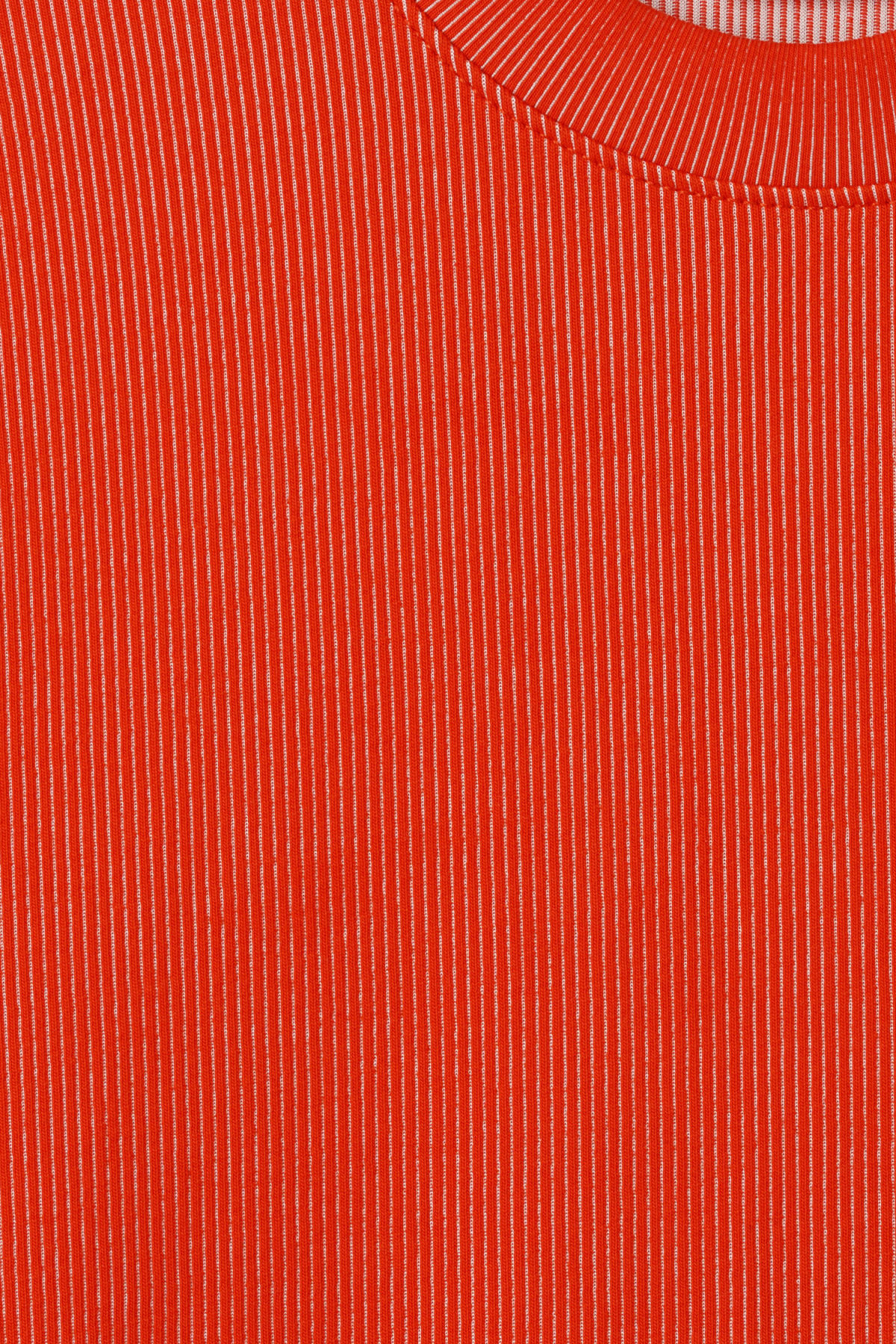 Detailed image of Weekday jake rib long sleeve in red