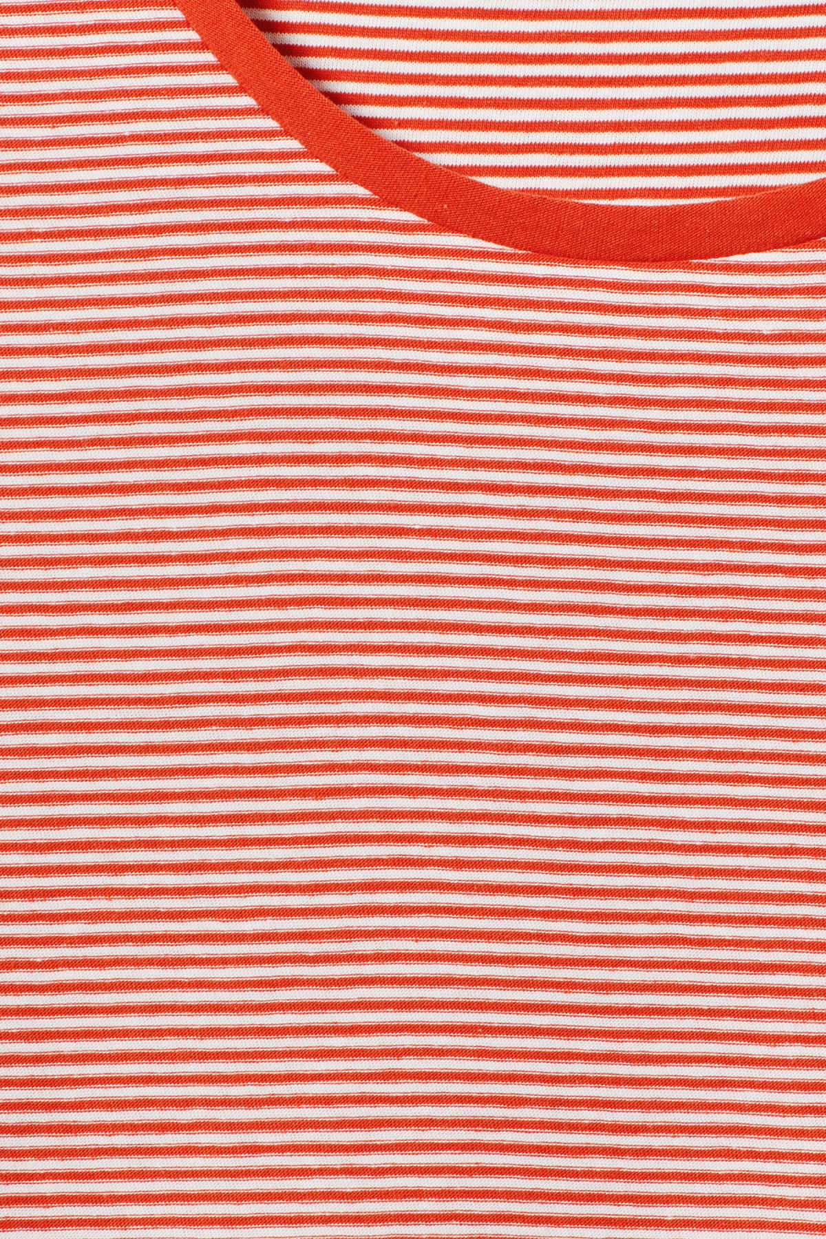 Detailed image of Weekday darko stripe t-shirt in orange