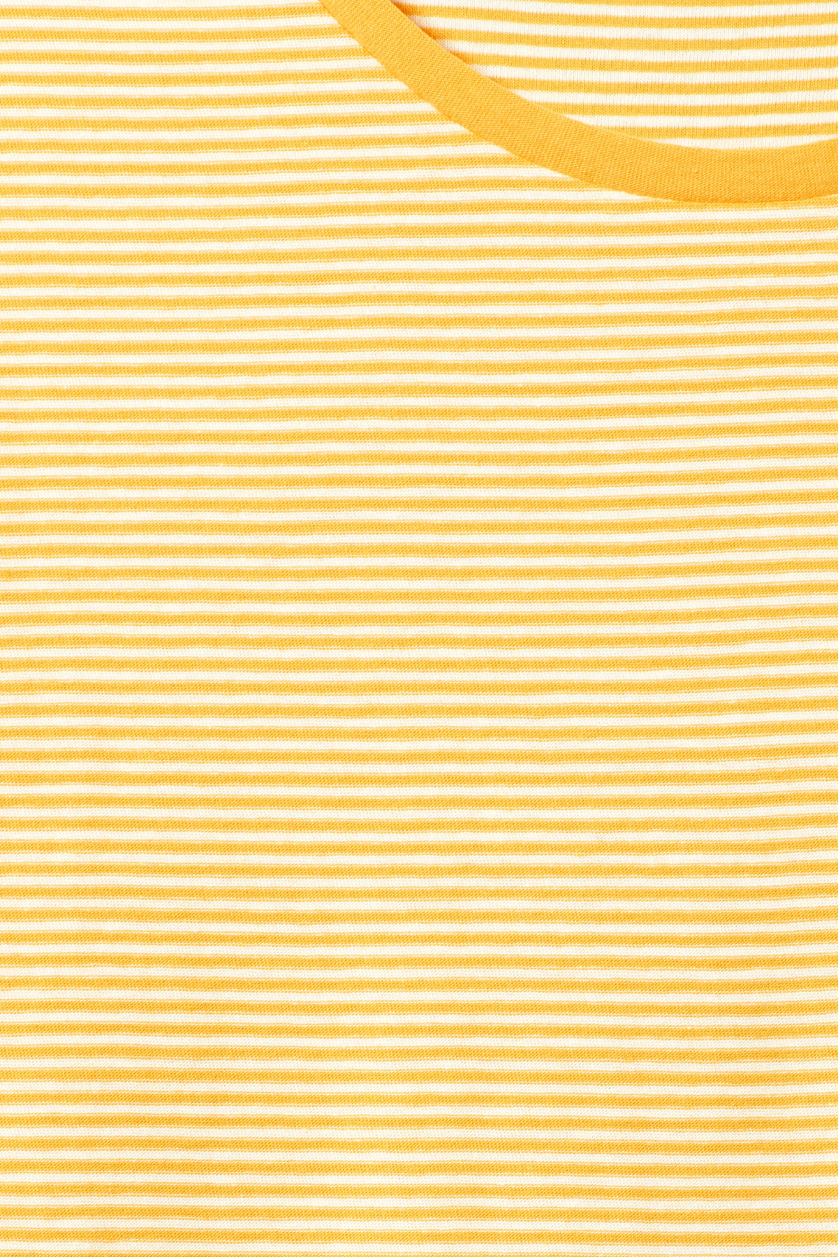 Detailed image of Weekday darko stripe t-shirt in yellow