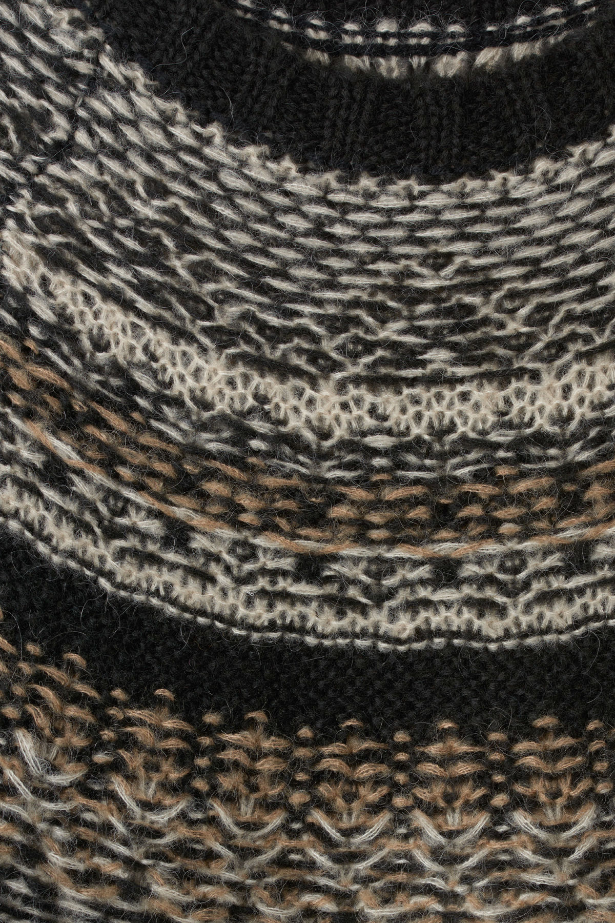 Detailed image of Weekday geisir sweater in black
