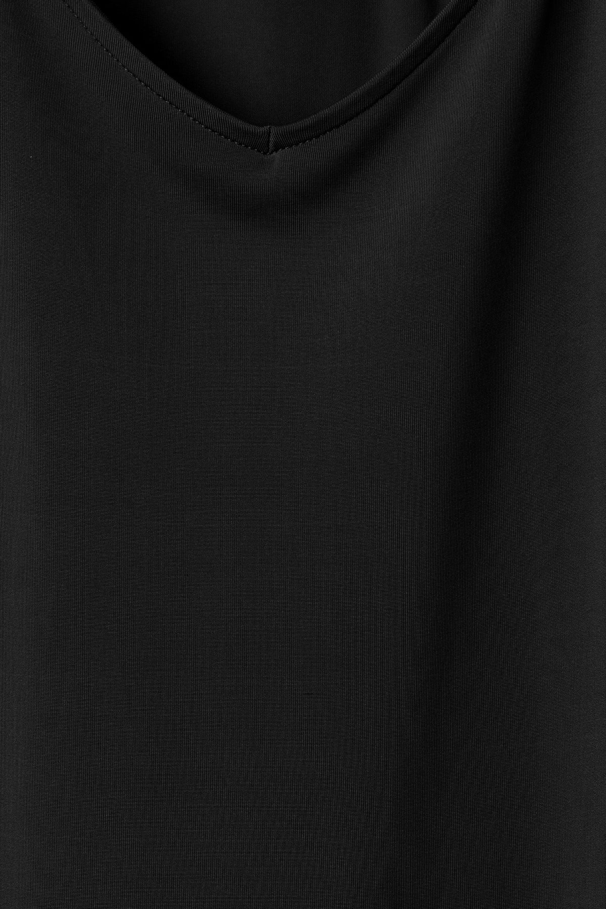 Detailed image of Weekday cupro dress in black