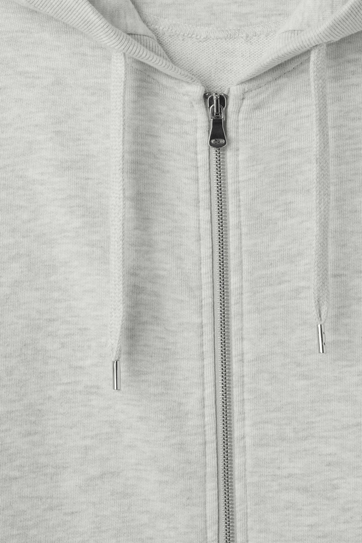 Detailed image of Weekday soar oversized hoodie in grey