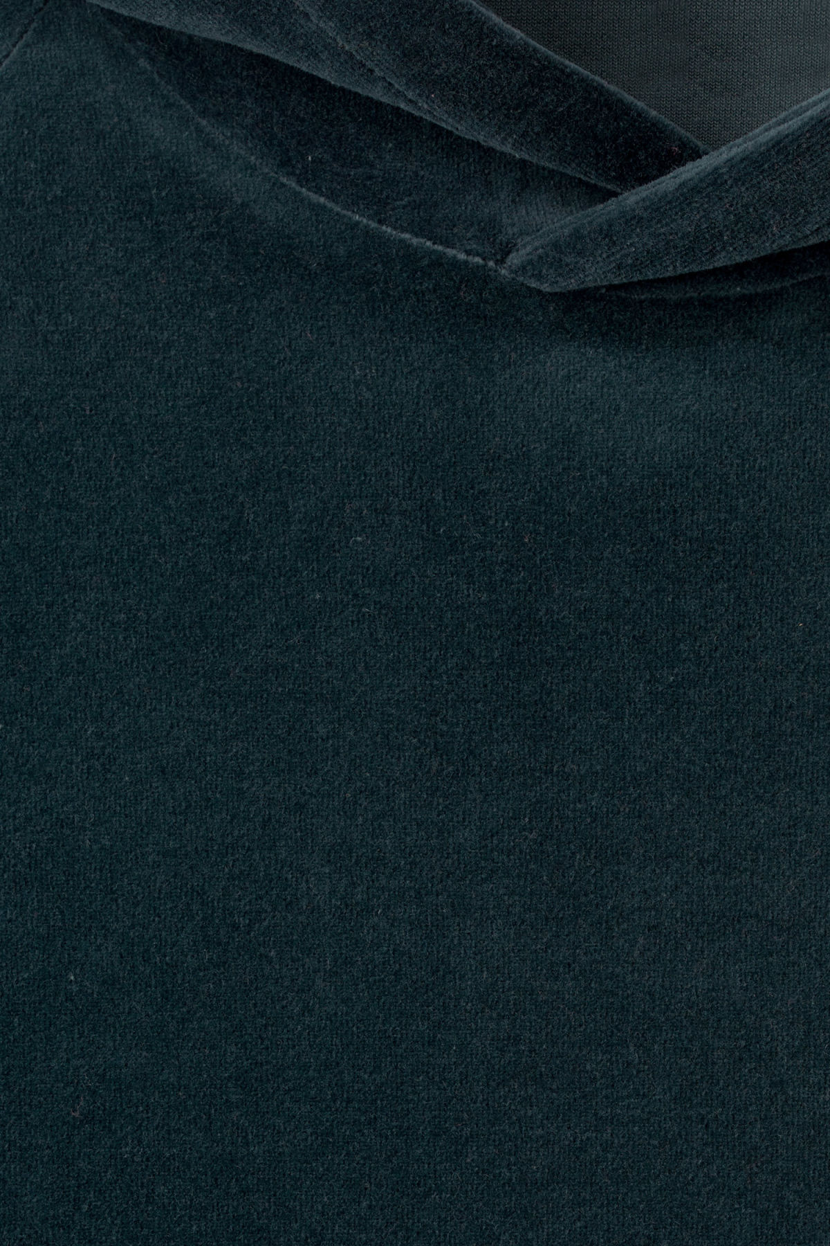 Detailed image of Weekday noah velvet hoodie in black