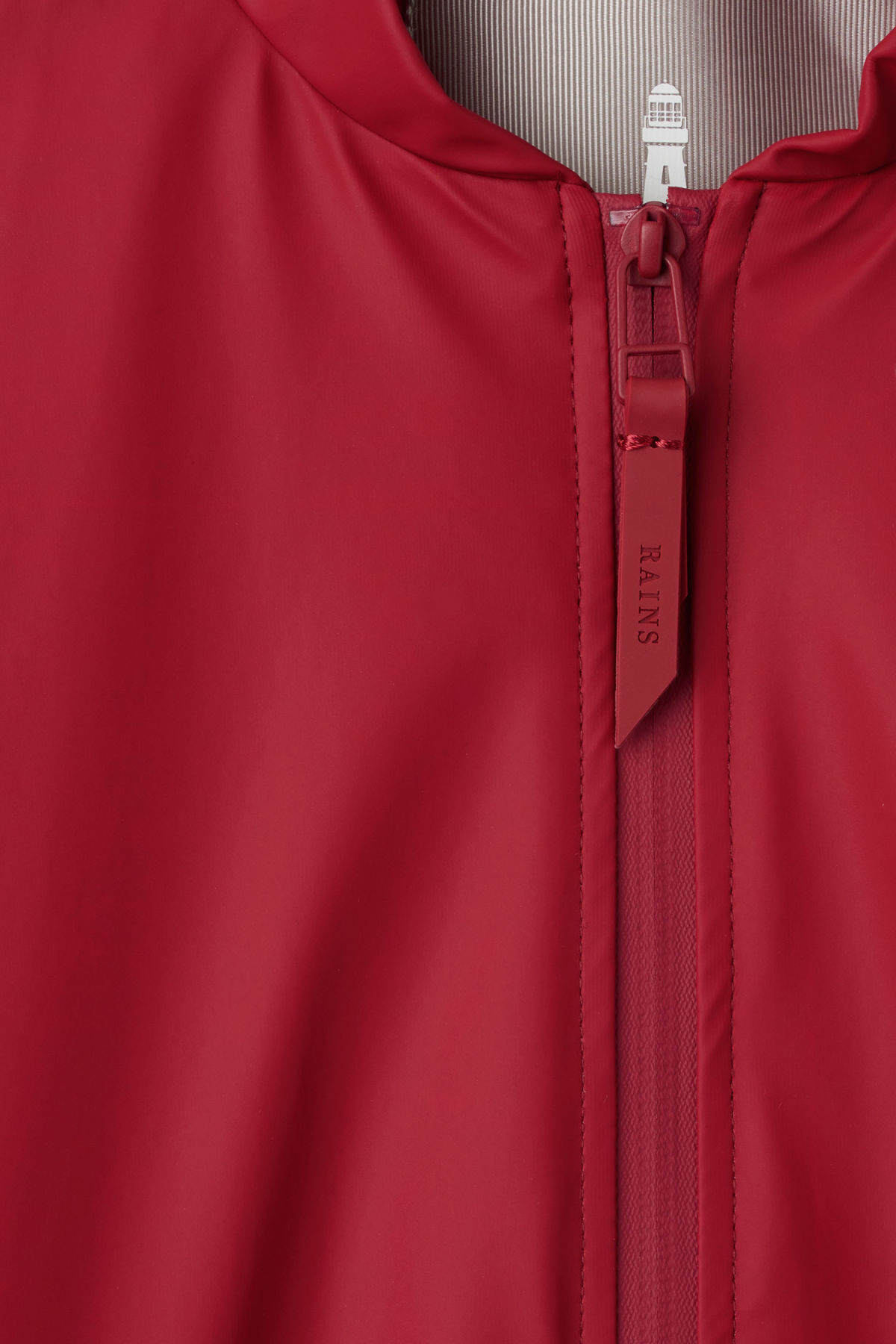Detailed image of Weekday bomber jacket in red