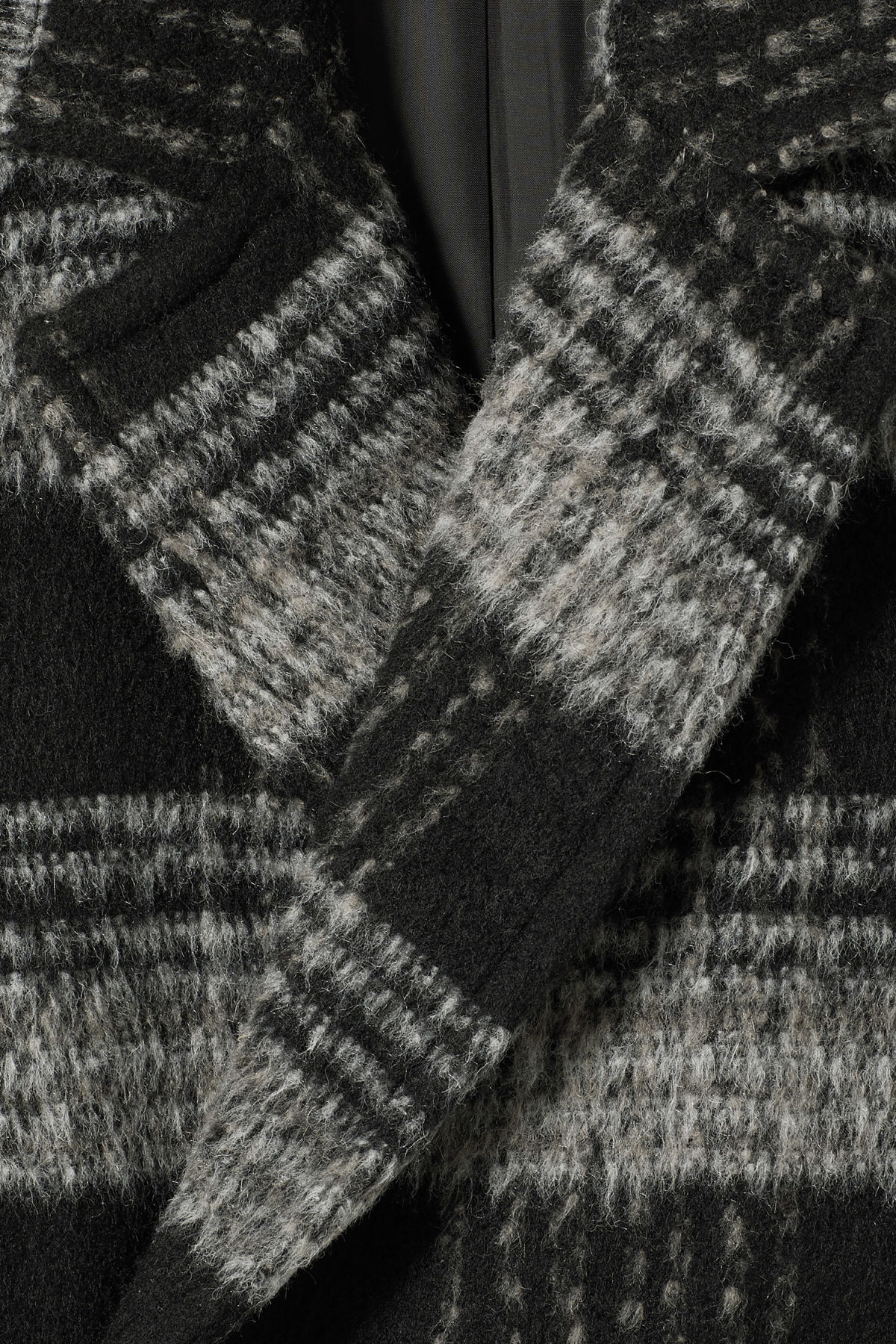 Detailed image of Weekday tristan checked coat in black