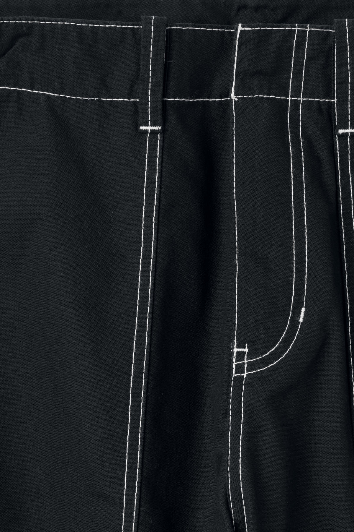 Detailed image of Weekday fowler chinos in black