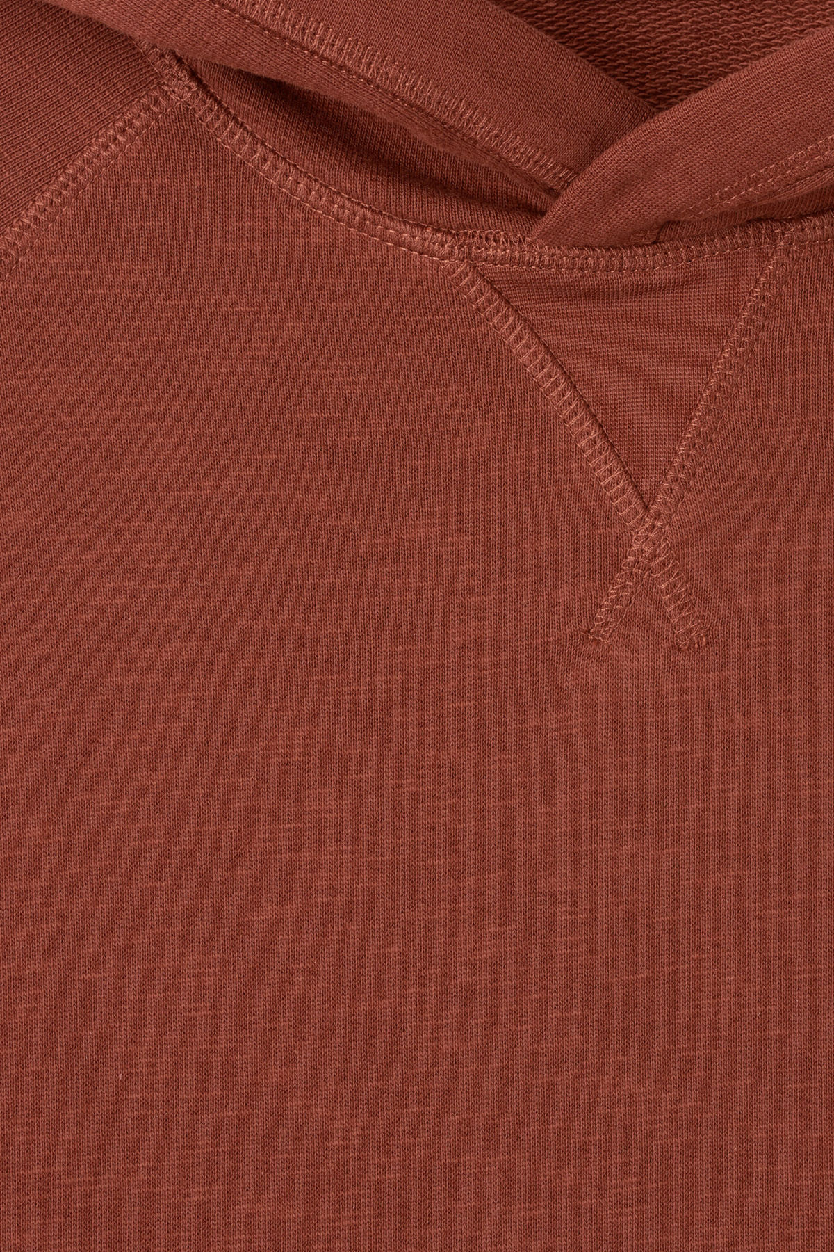 Detailed image of Weekday noah hoodie in orange