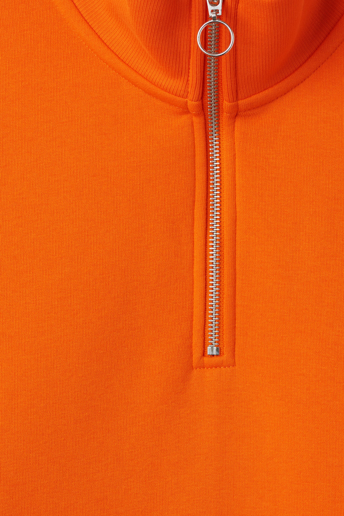 Detailed image of Weekday martin zip sweatshirt  in orange