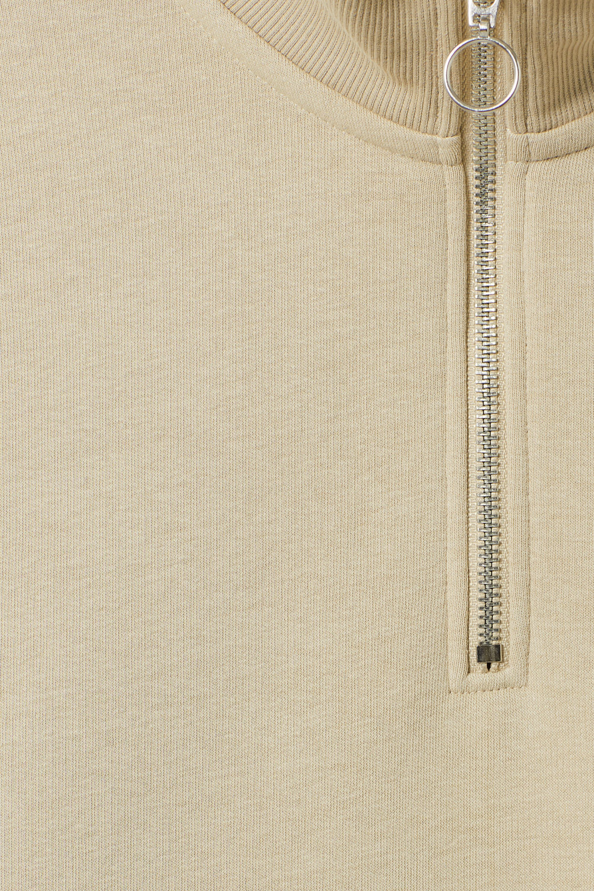 Detailed image of Weekday martin zip sweatshirt  in brown