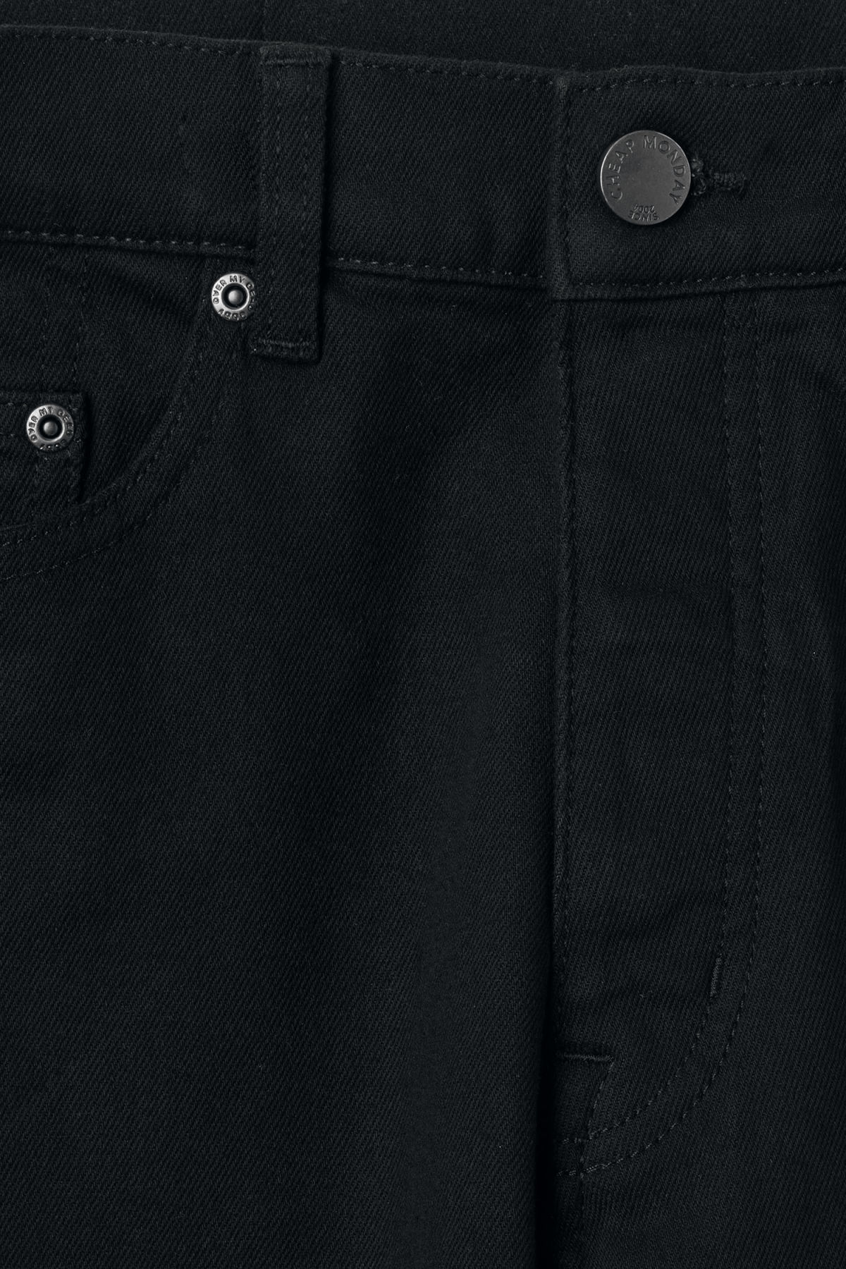 Detailed image of Weekday in law deep black jeans in black