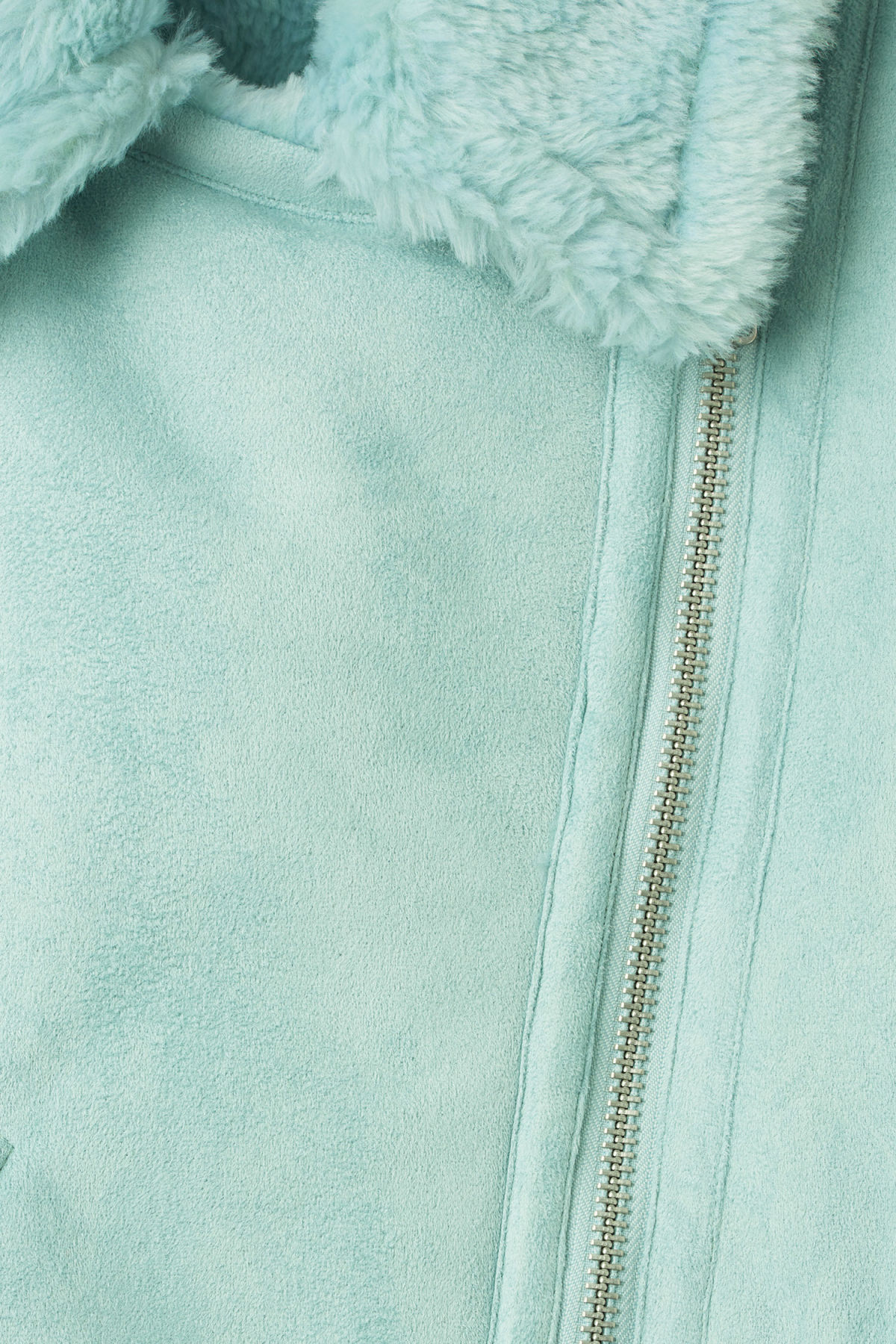 Detailed image of Weekday nora jacket  in turquoise