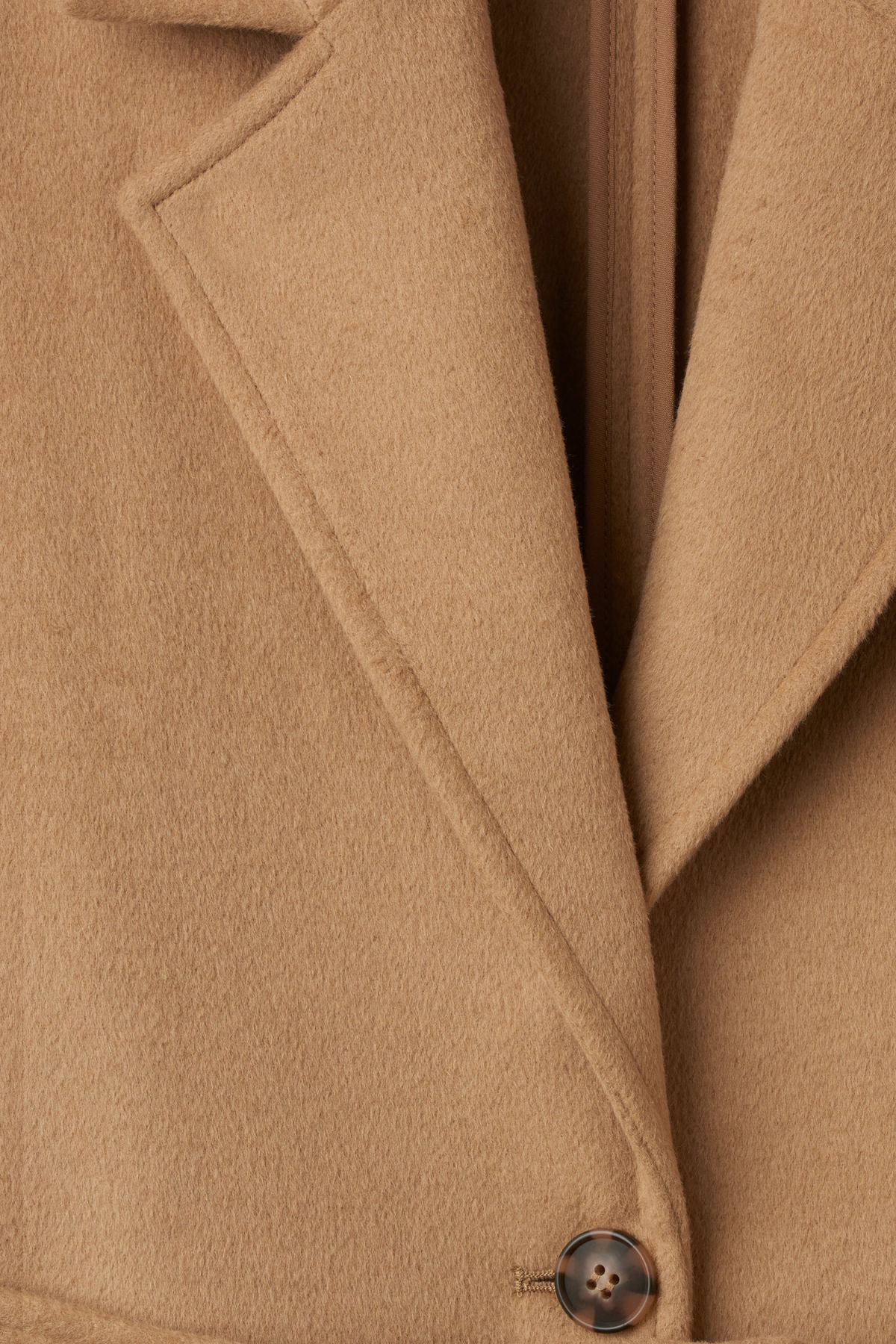 Detailed image of Weekday gry coat in beige