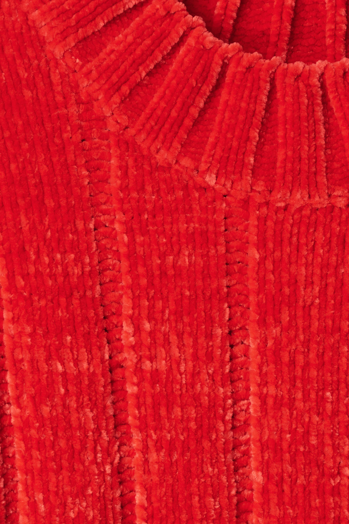 Detailed image of Weekday missy knit sweater in red