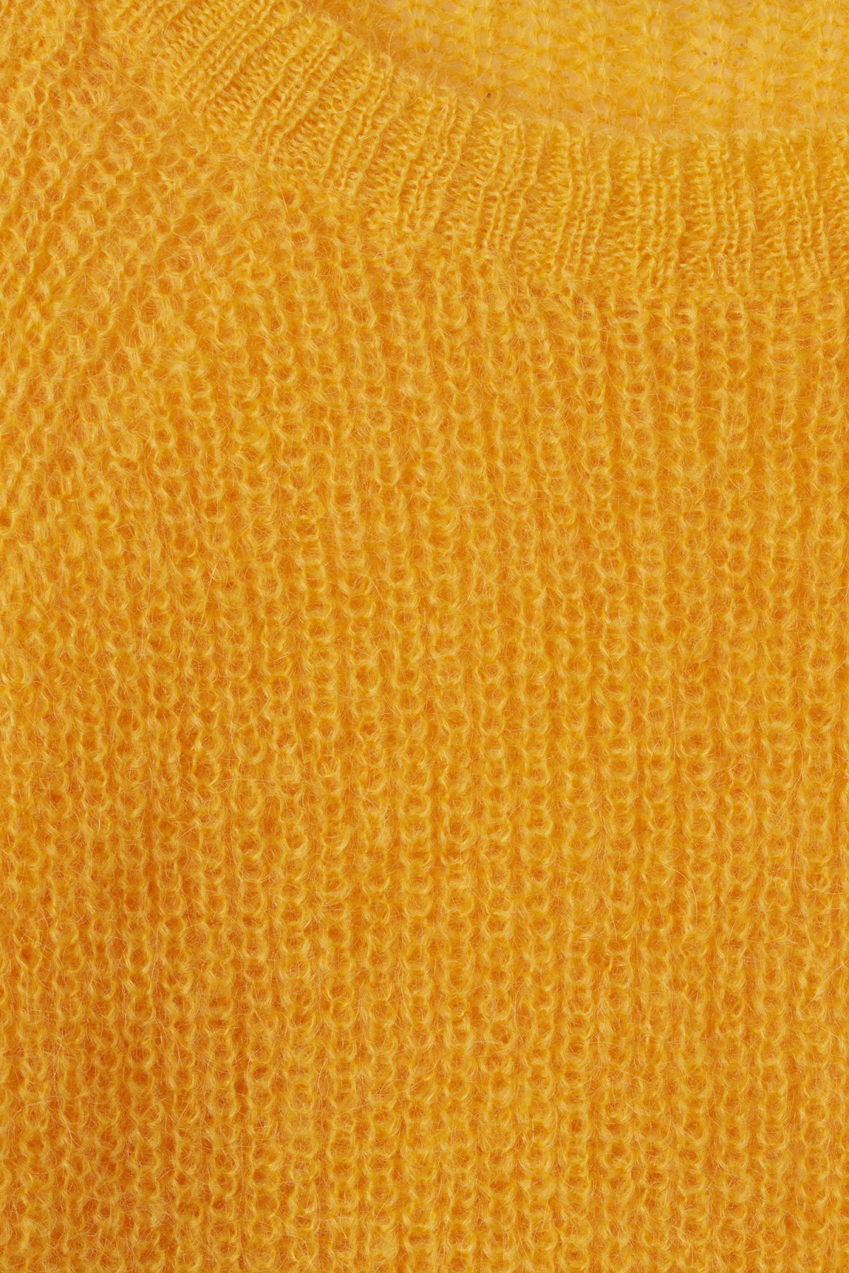 Detailed image of Weekday joni sweater in yellow