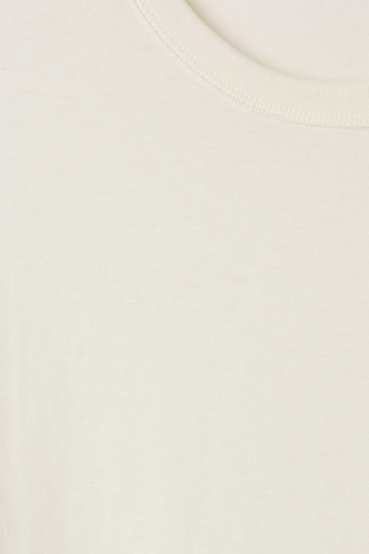 Detailed image of Weekday anton t-shirt in white