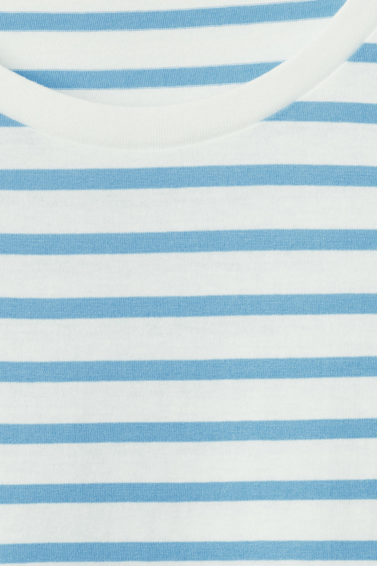 Detailed image of Weekday alex stripe t-shirt in blue