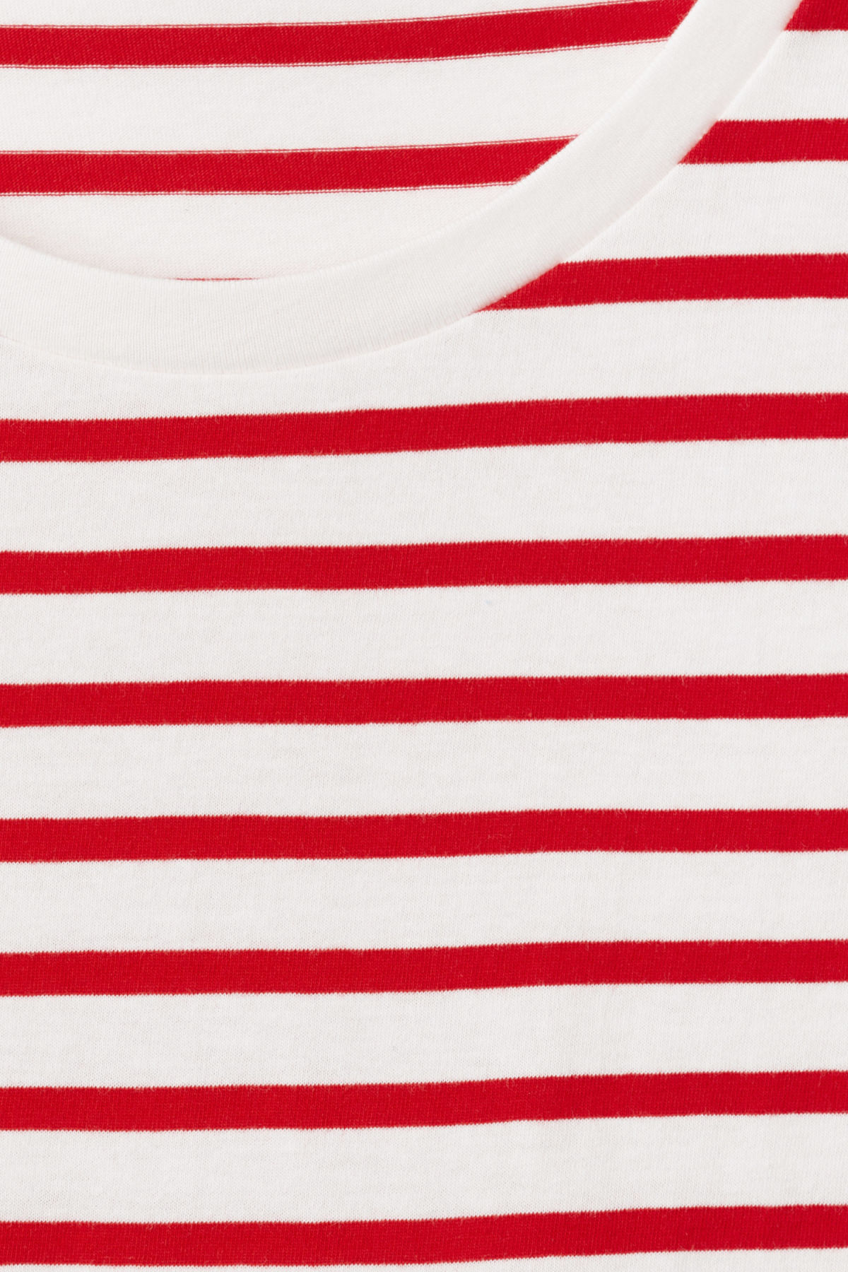 Detailed image of Weekday alex stripe t-shirt in red