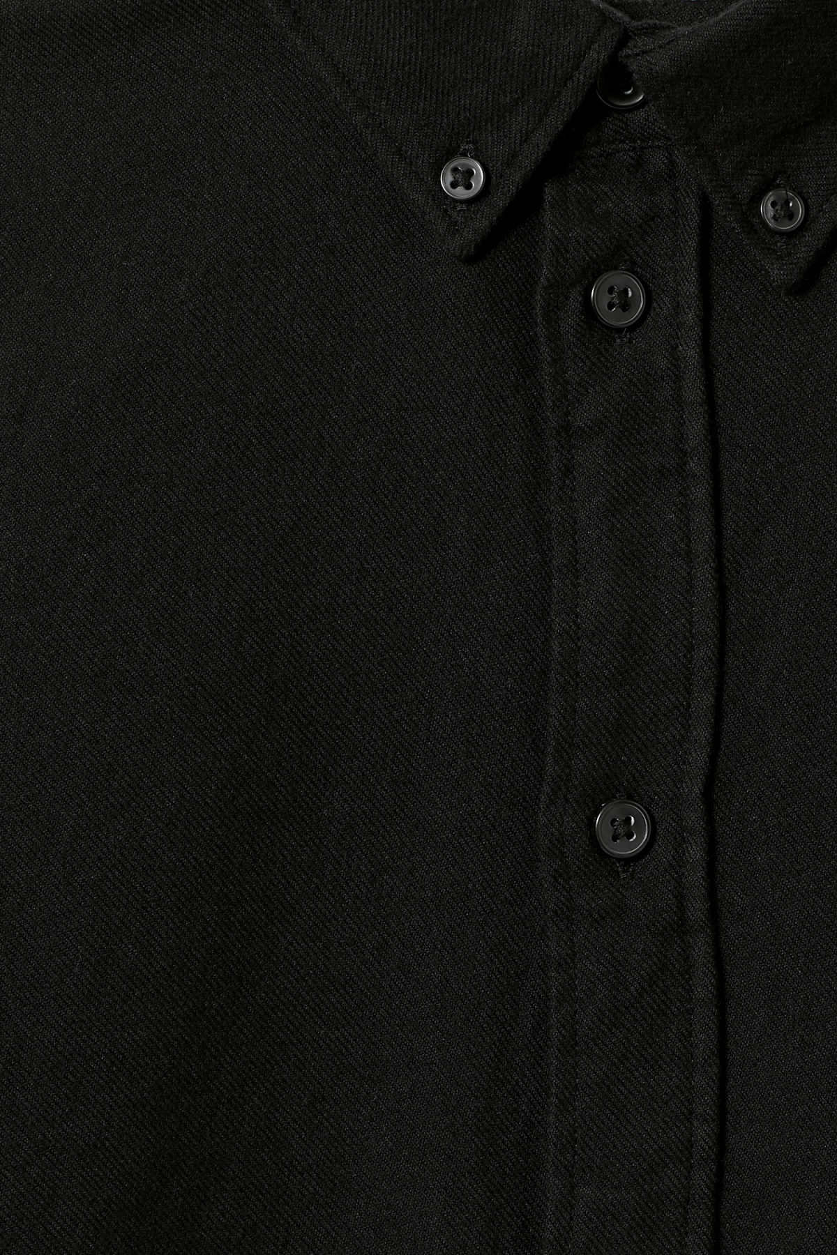 Detailed image of Weekday seattle flanell shirt in black