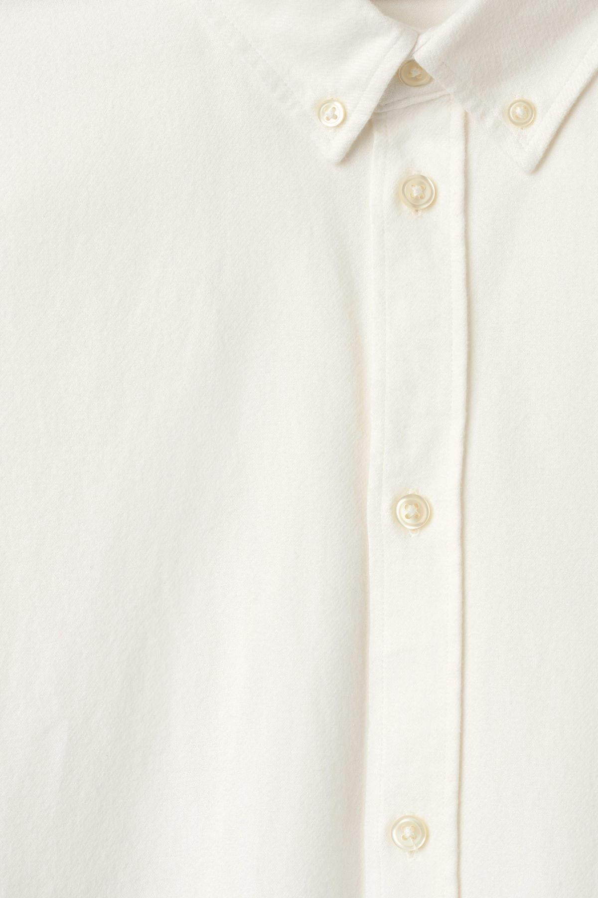 Detailed image of Weekday seattle flanell shirt in white