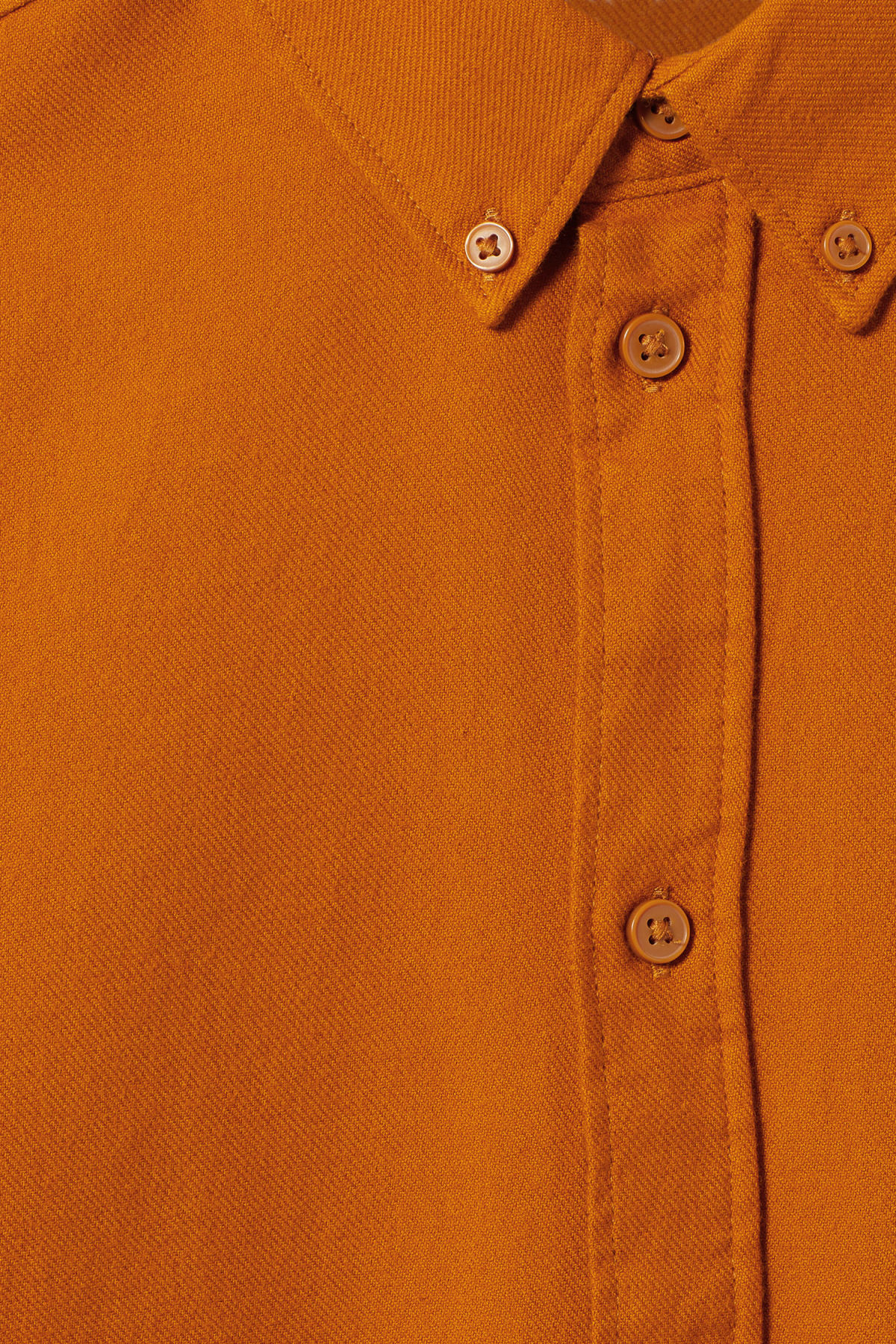 Detailed image of Weekday seattle flanell shirt in yellow