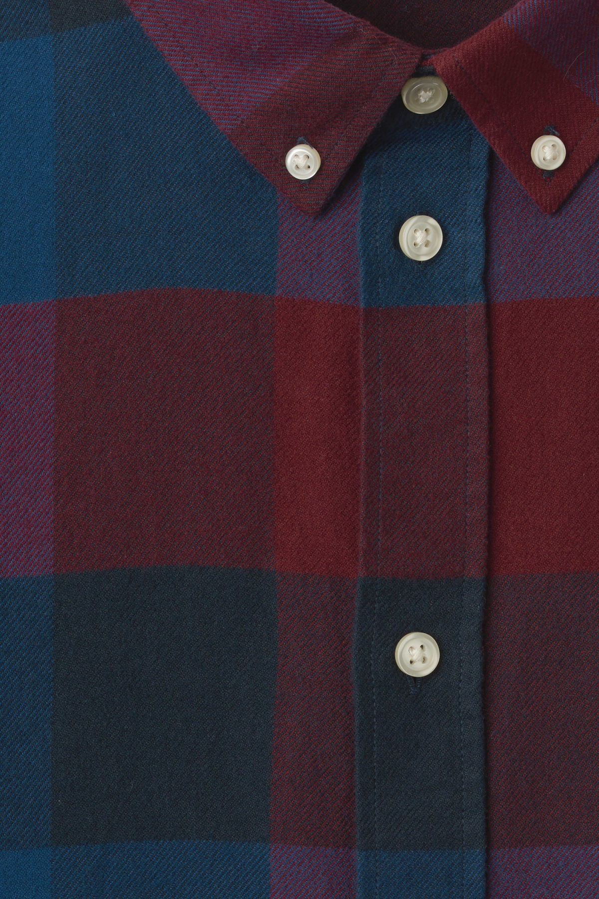 Detailed image of Weekday seattle check shirt in red