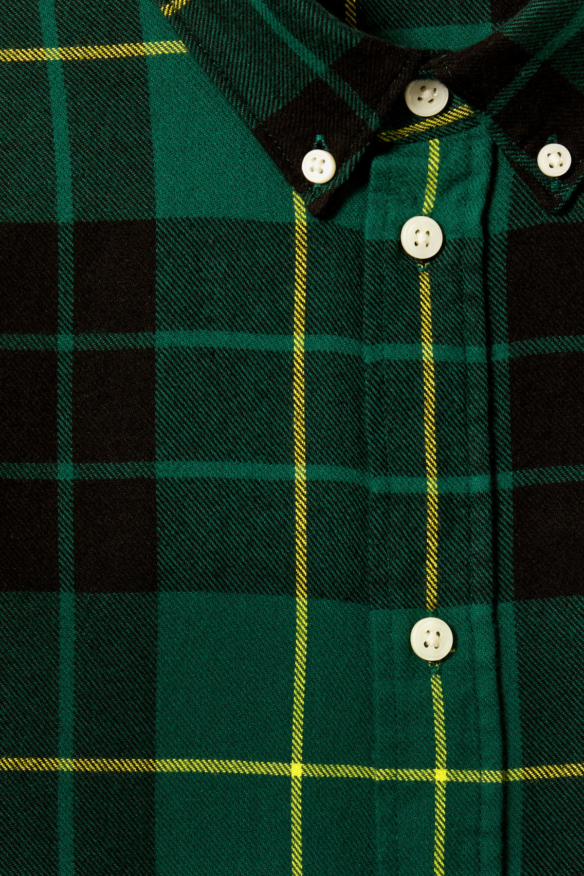 Detailed image of Weekday seattle check shirt in green