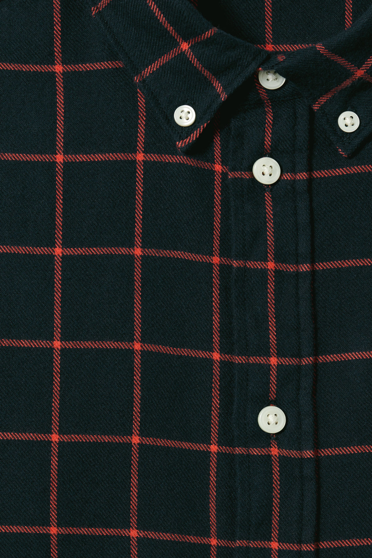 Detailed image of Weekday seattle check shirt in blue