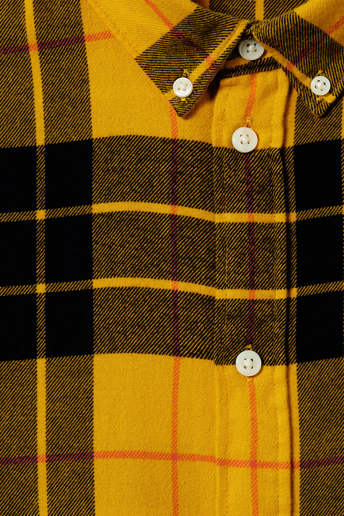 Detailed image of Weekday seattle check shirt in yellow