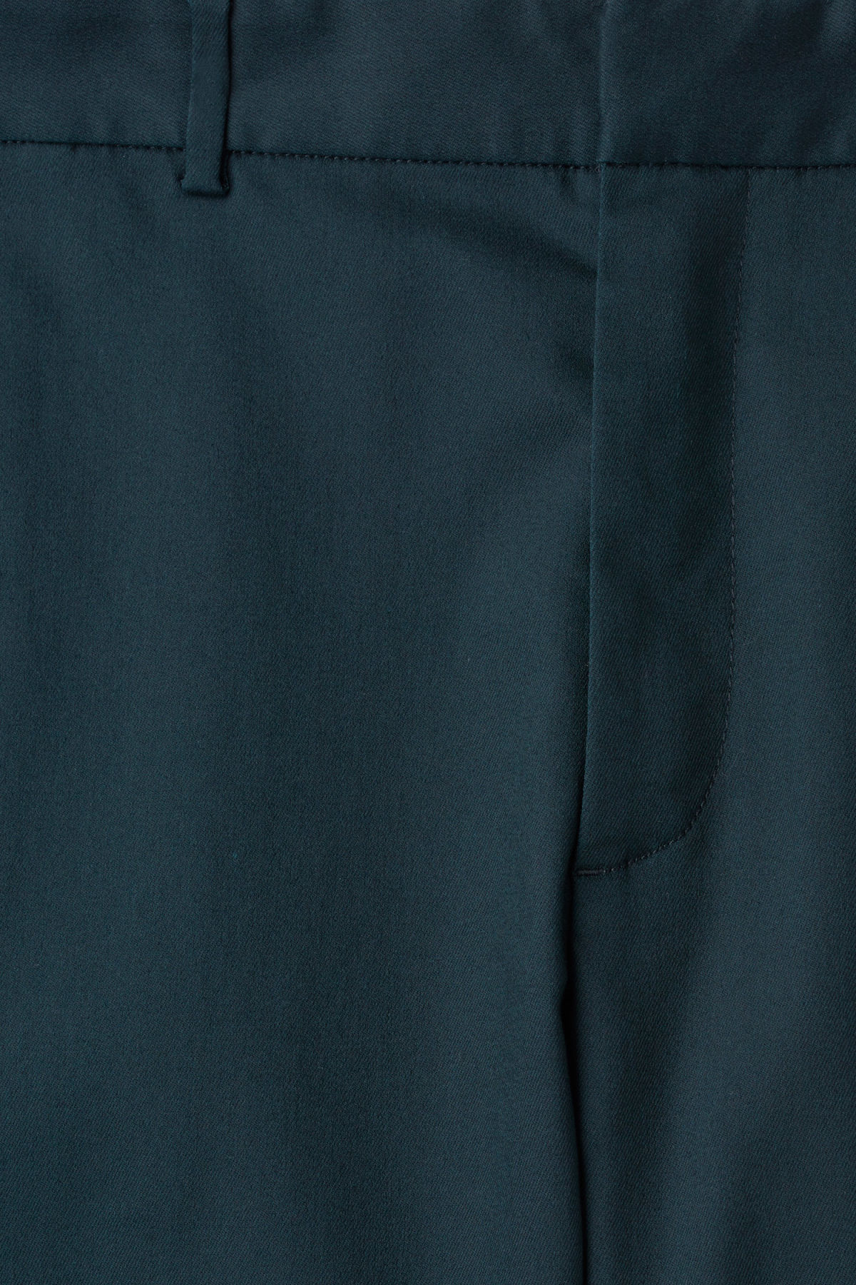 Detailed image of Weekday sergei side panel trousers in turquoise