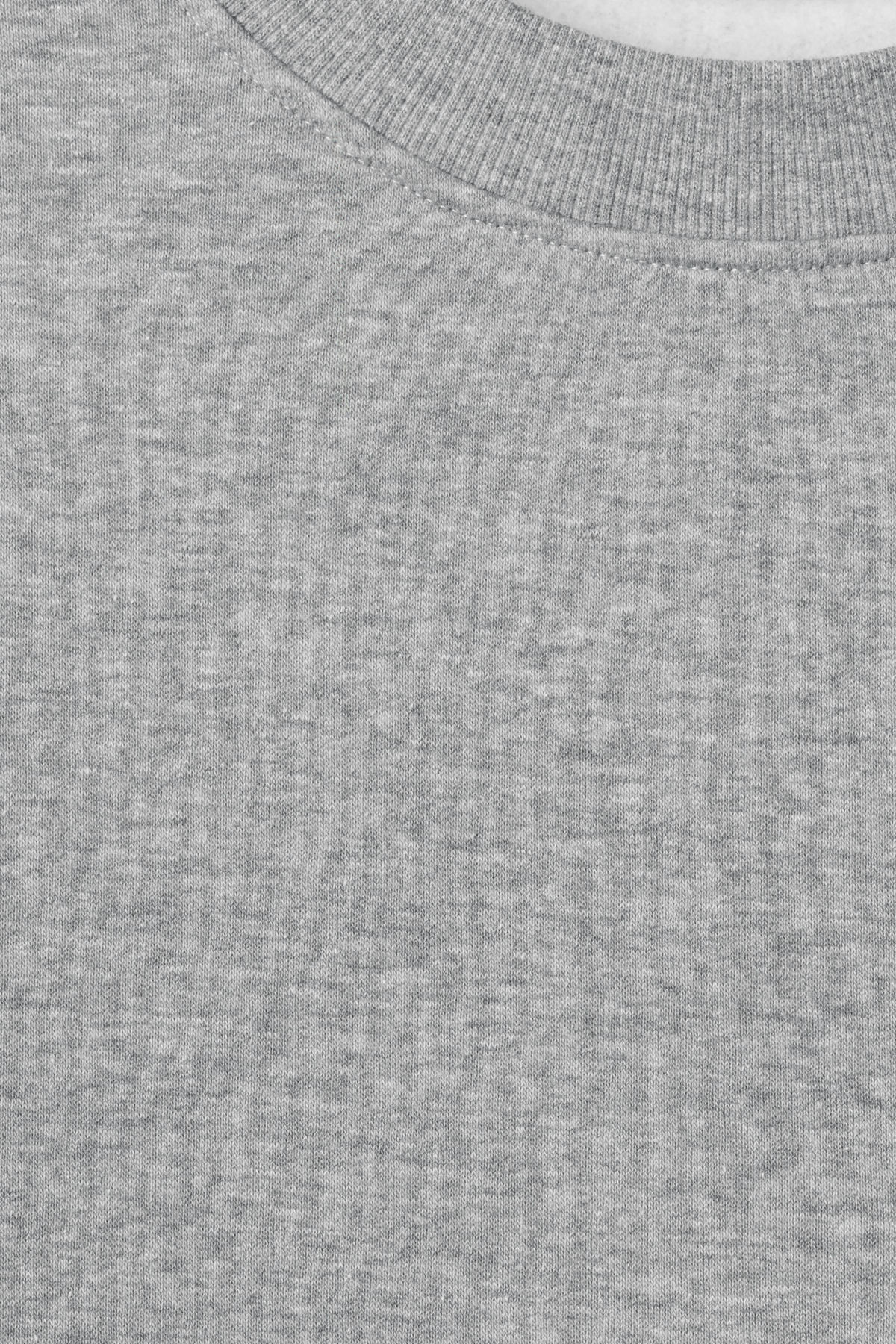 Detailed image of Weekday grant zip sweatshirt in grey