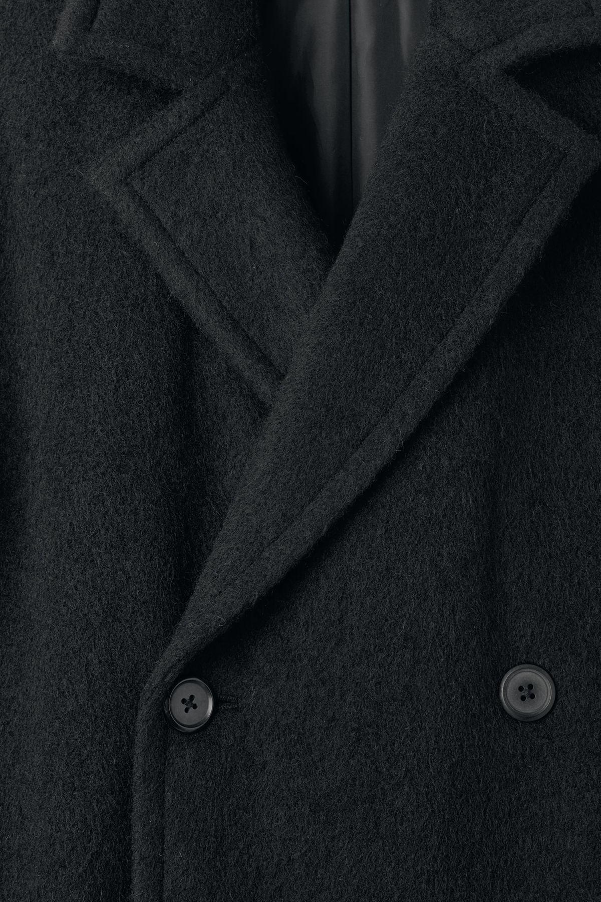 Detailed image of Weekday tristan coat in black