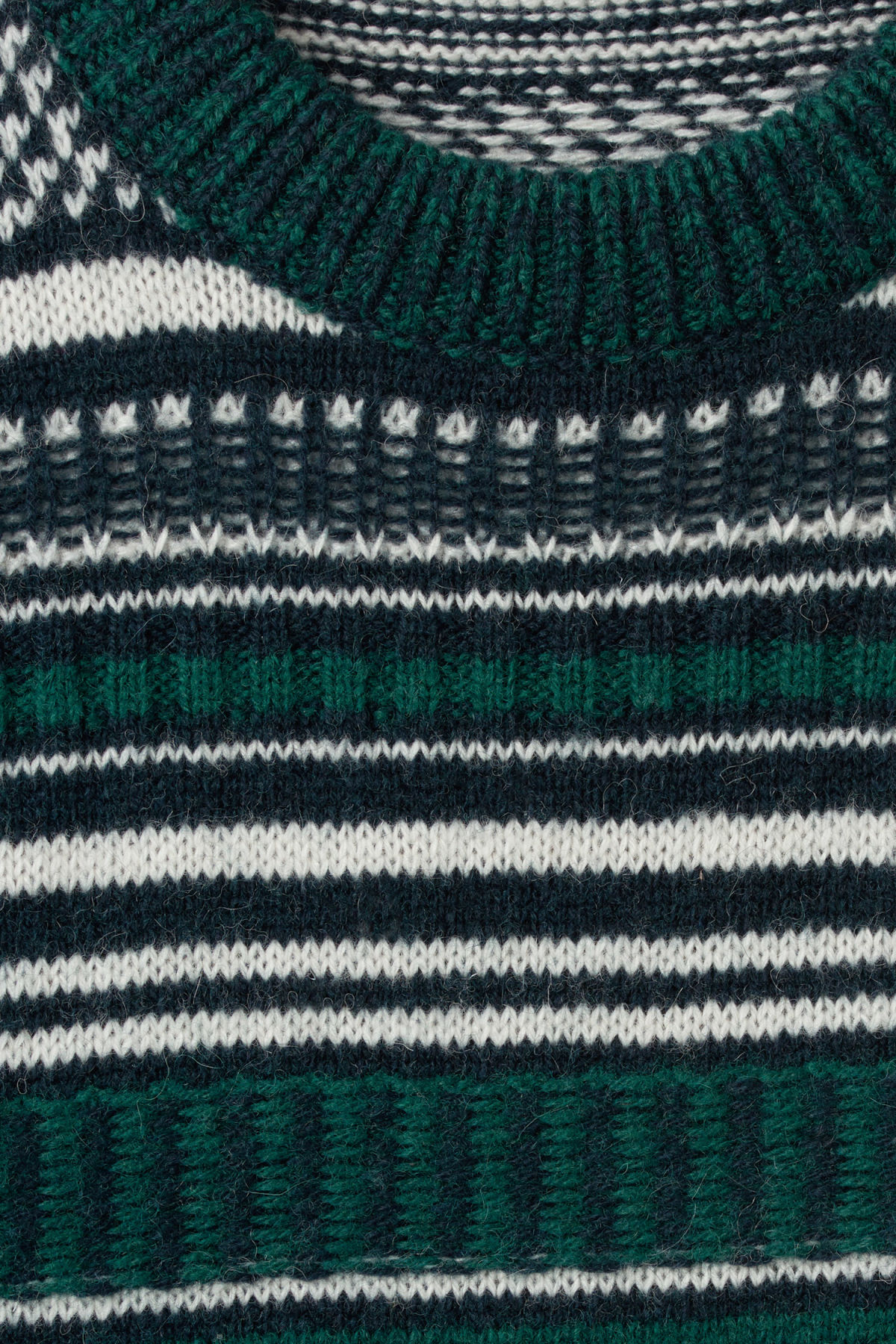 Detailed image of Weekday jaque sweater in blue