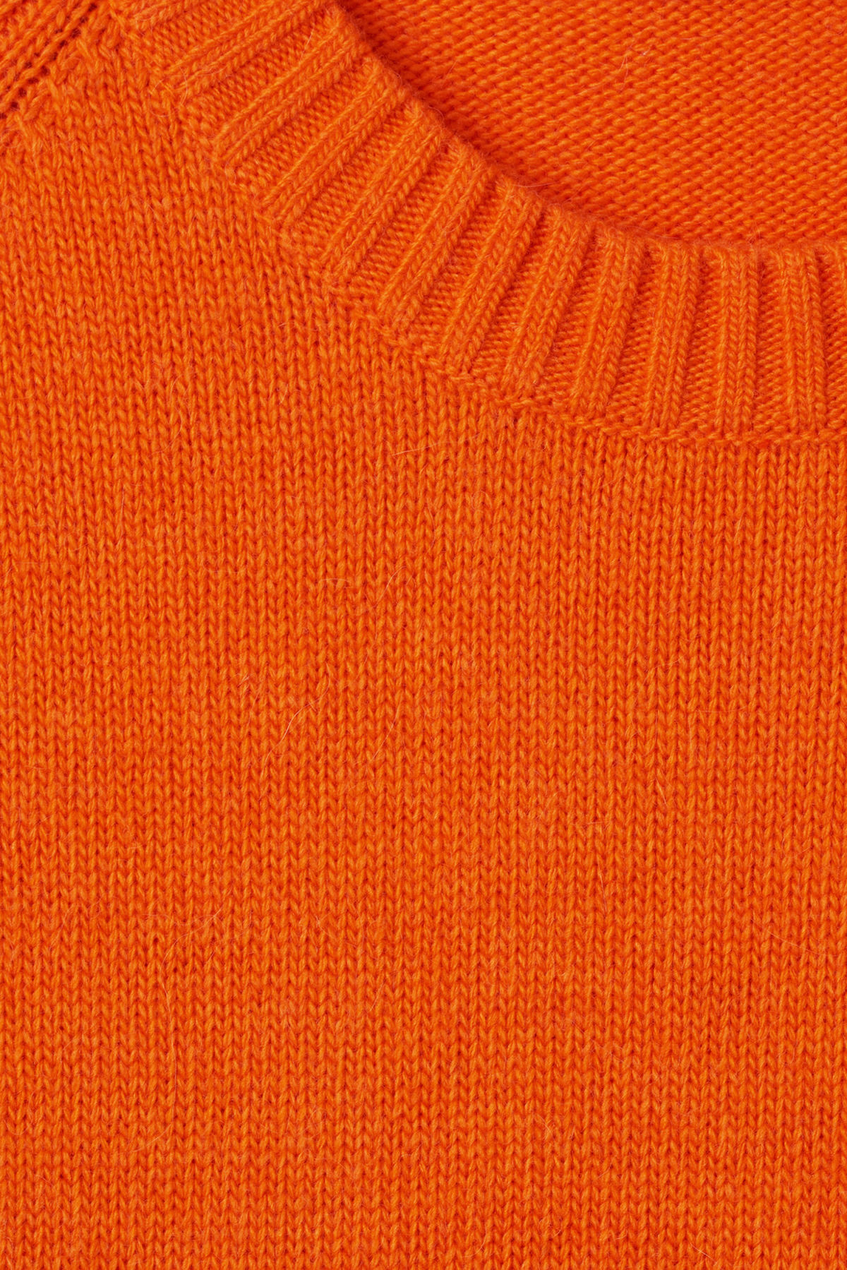 Detailed image of Weekday mural sweater in orange