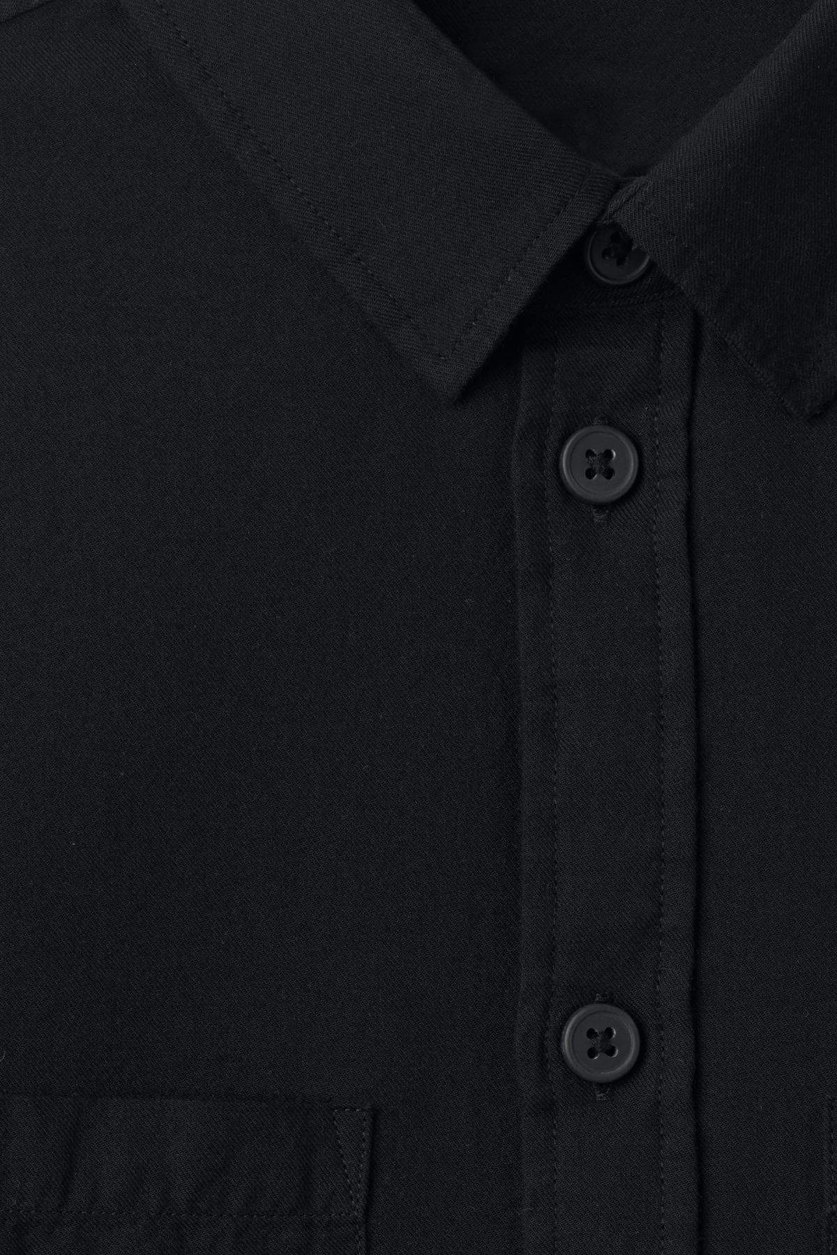 Detailed image of Weekday herbert shirt in black